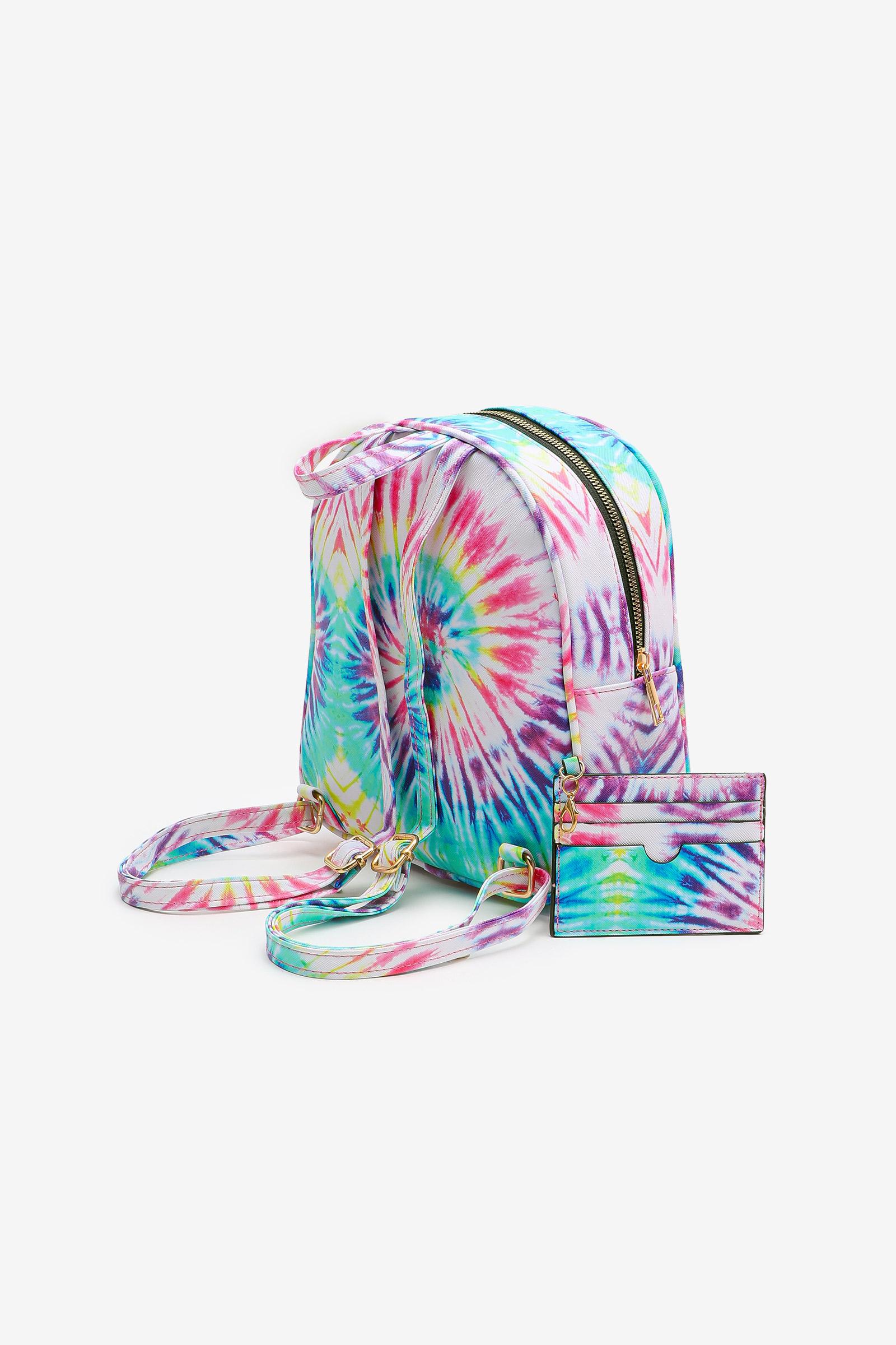 Bright Tie-Dye Backpack