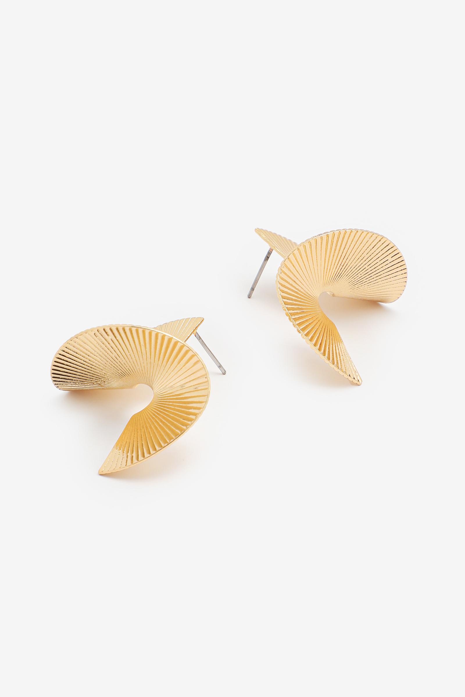 Twisted Fan Earrings