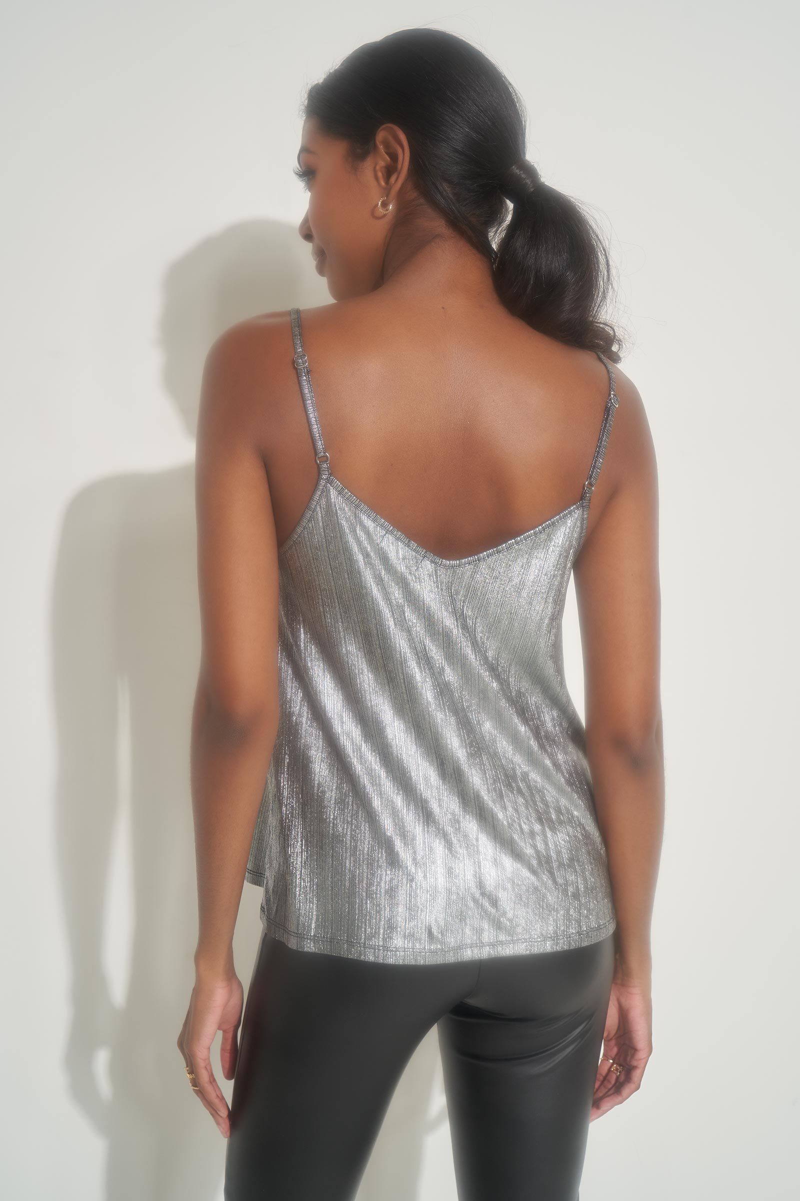 Sparkly Crossed Tank Top