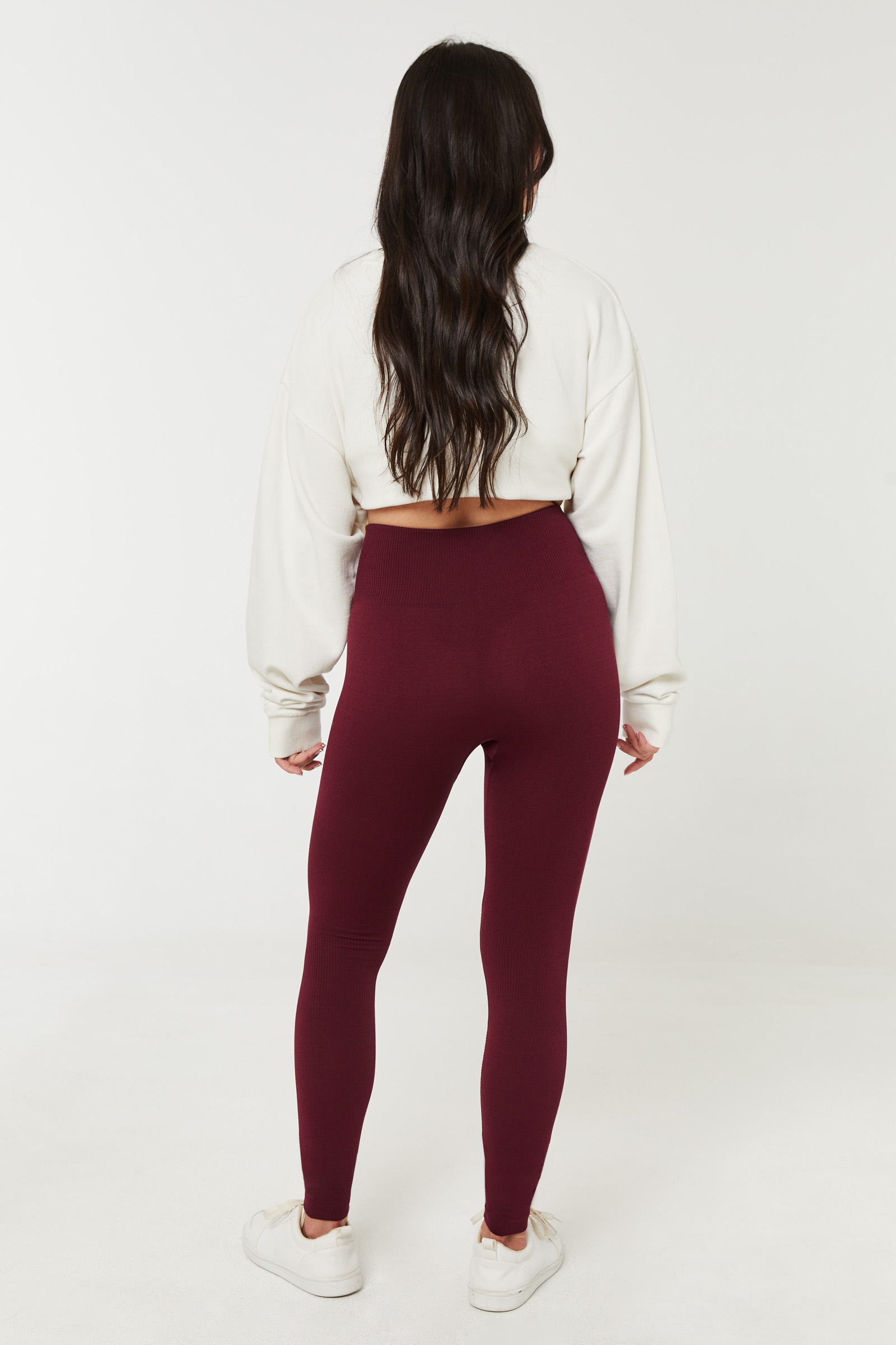 Seamless Leggings with Ribbed Knee detail