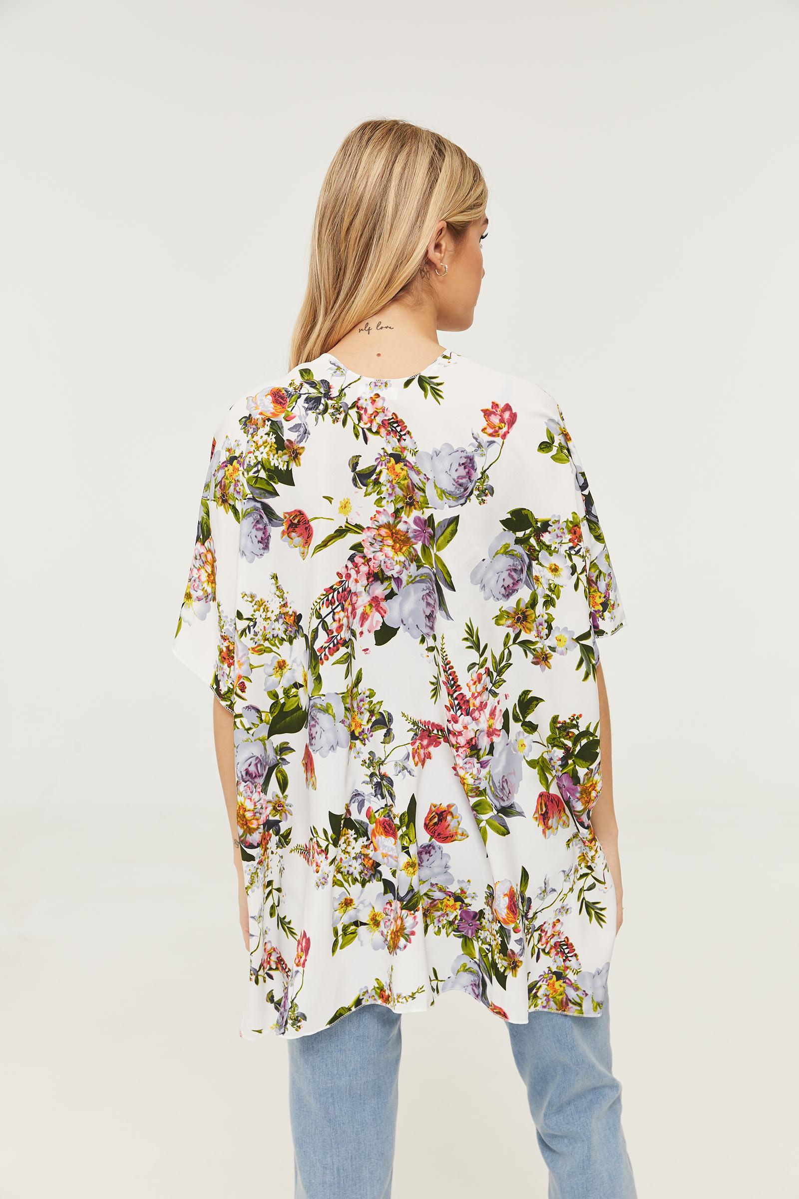 Floral Poncho