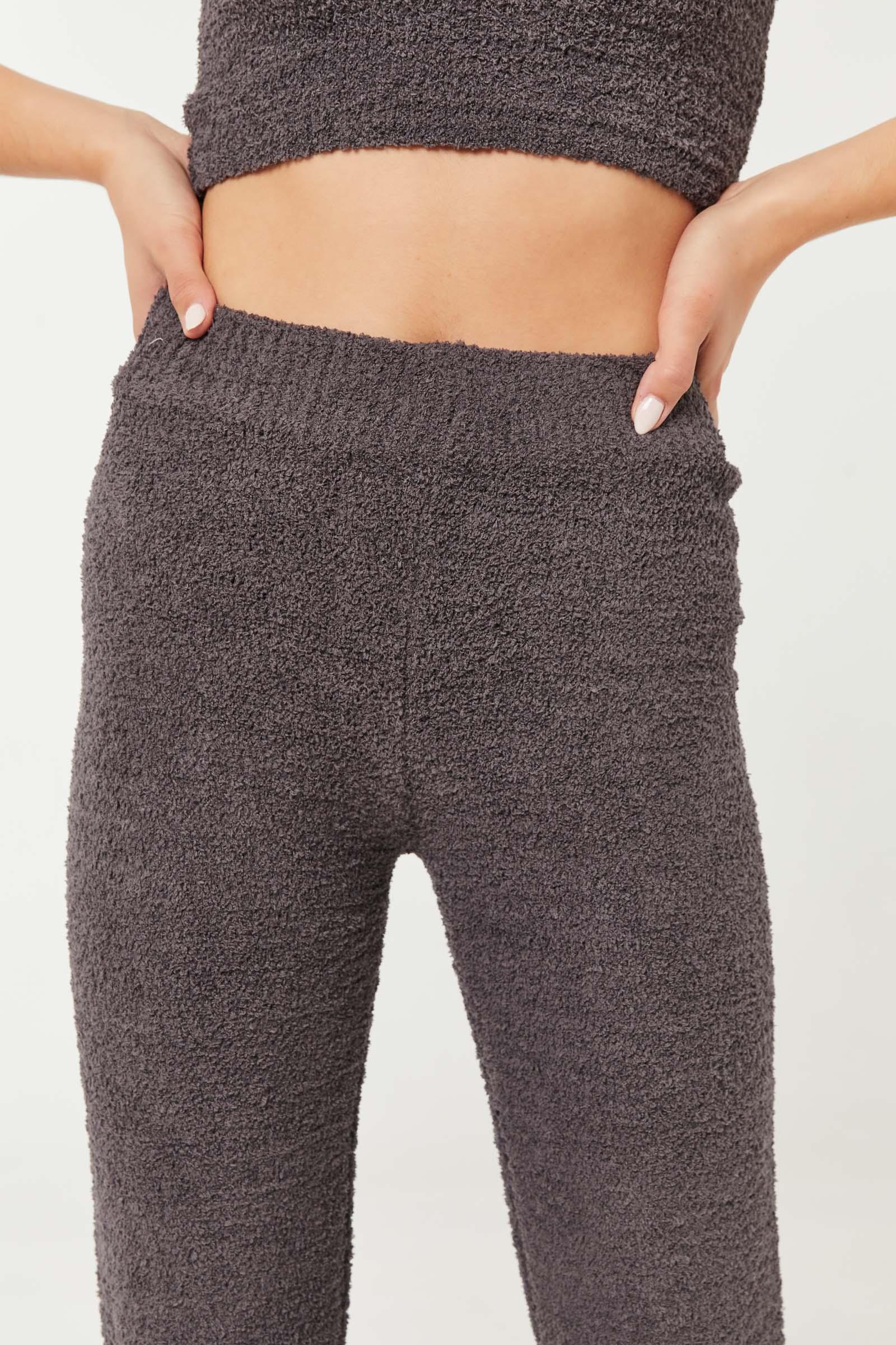 Pantalon évasé détente en chenille