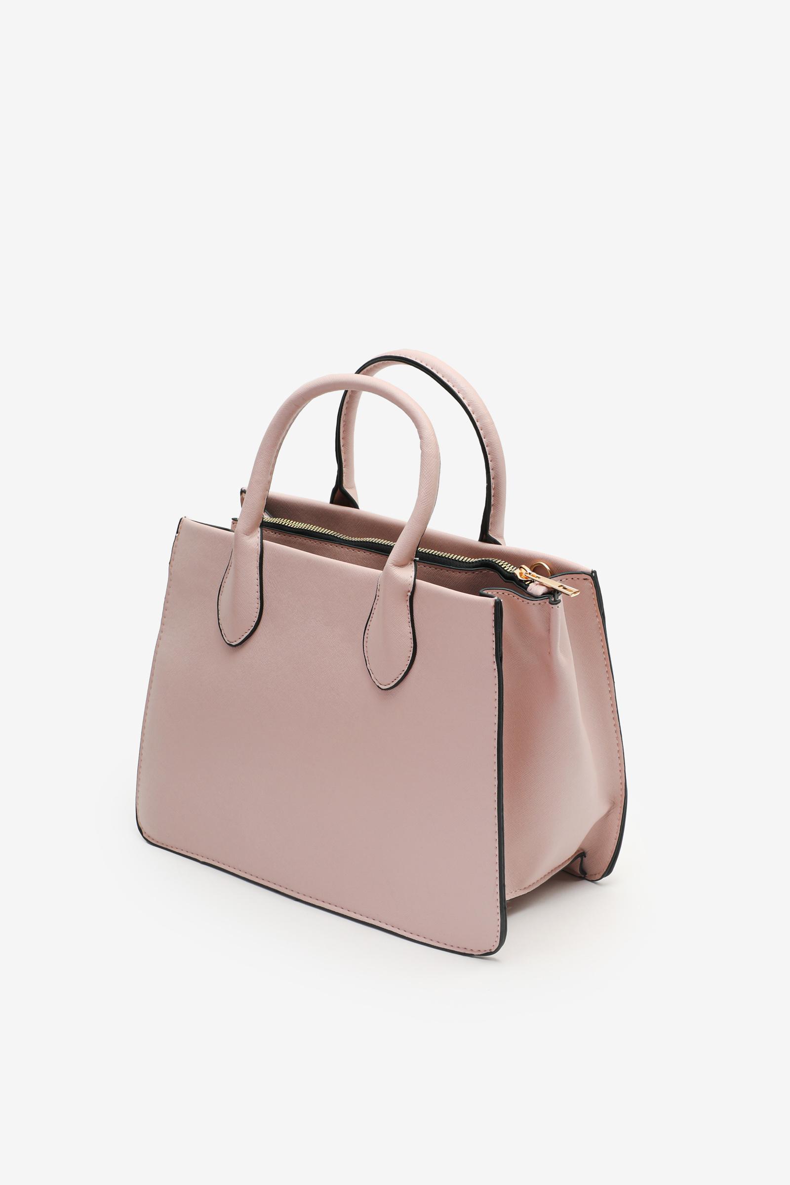 Medium Faux Leather Tote Bag