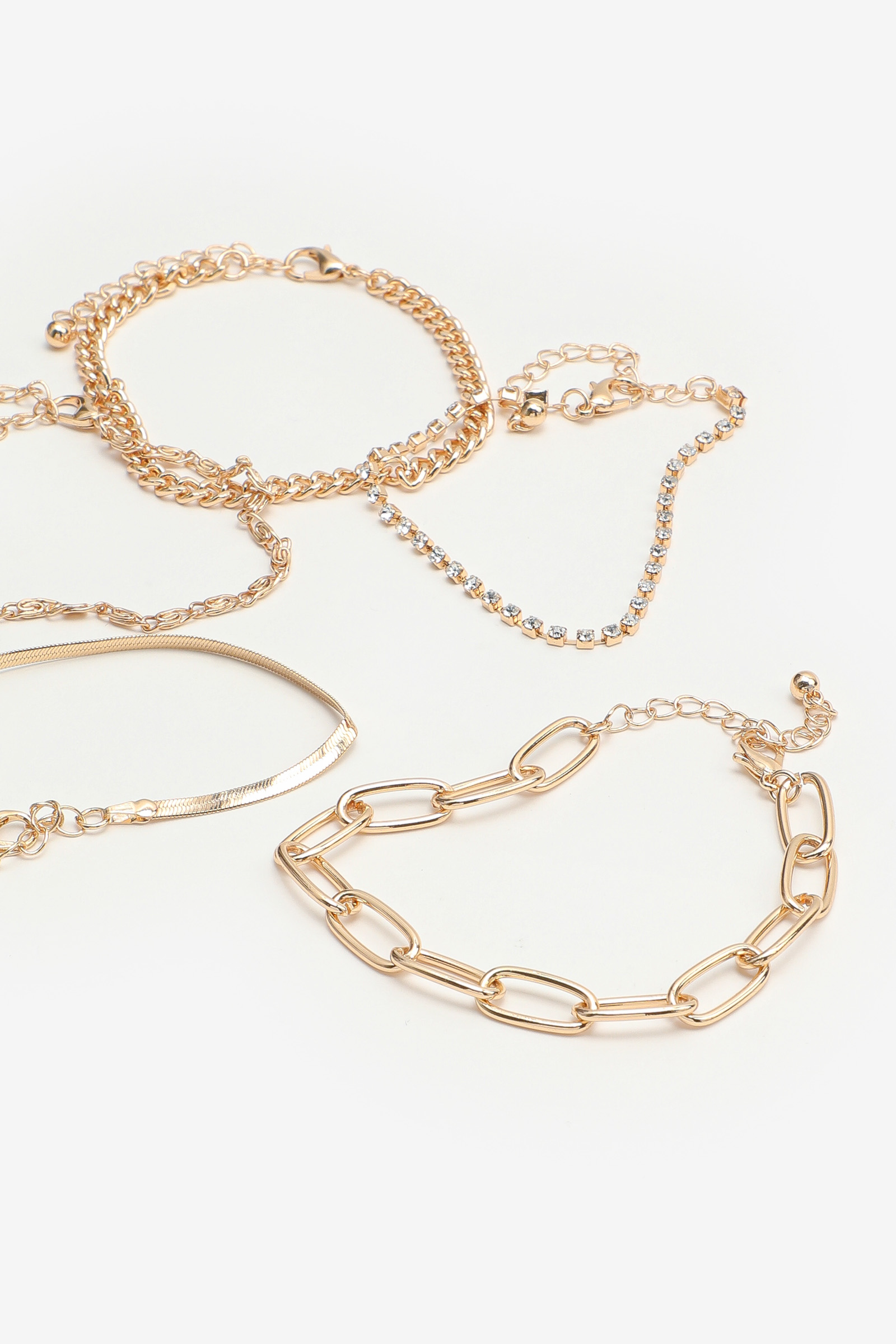 5-Pack of Assorted Chain Bracelets
