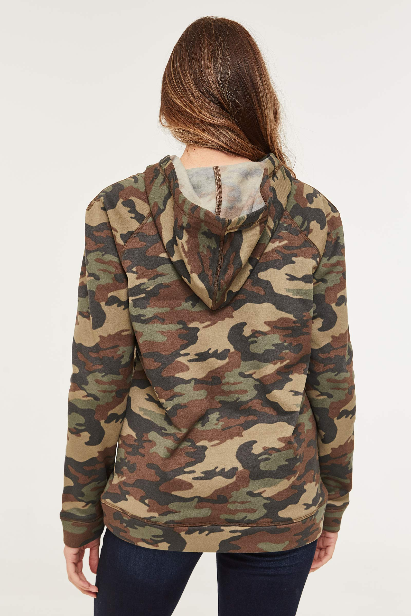 Camo Good Vibes Only Hoodie