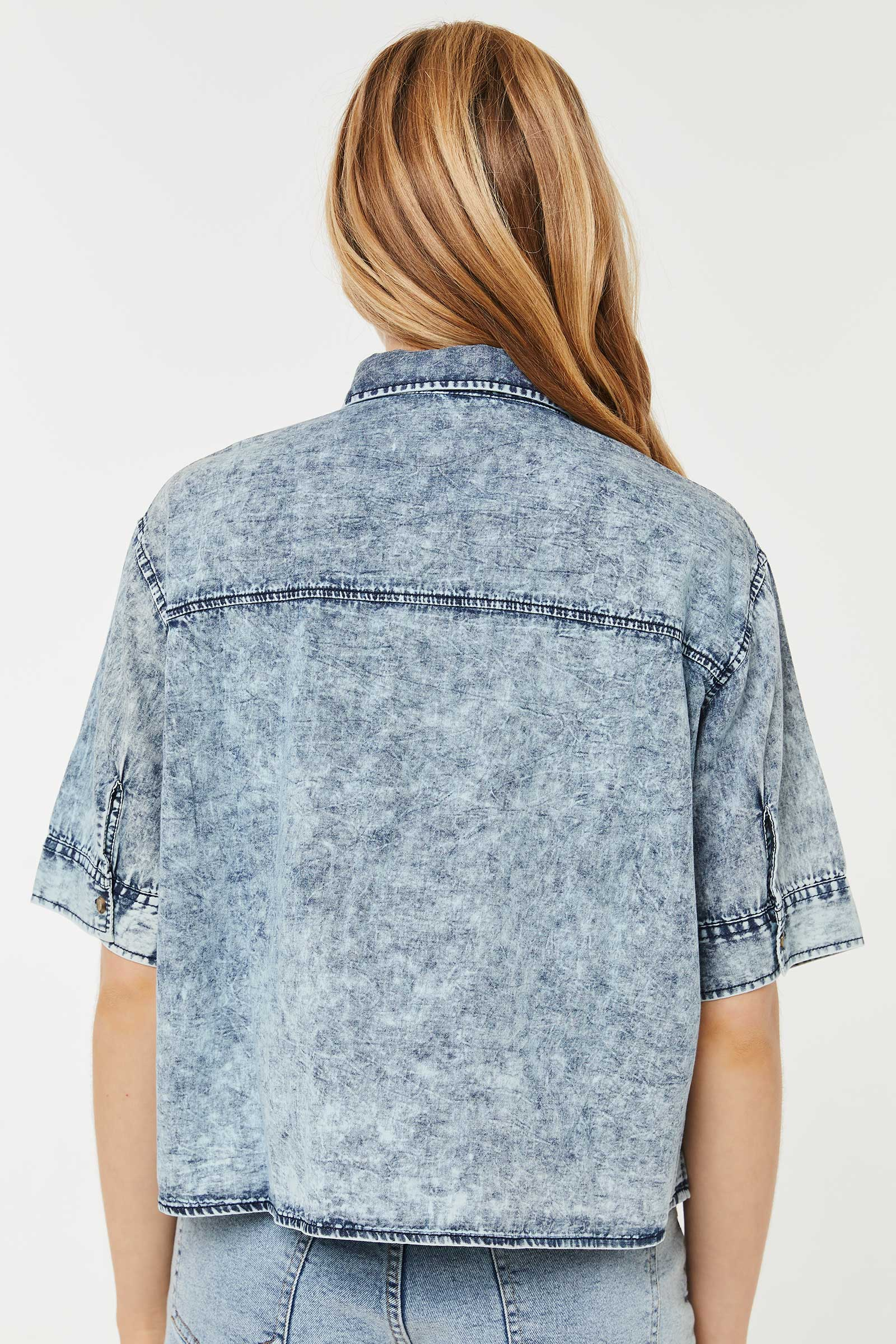 Chemise en chambray coupe carrée