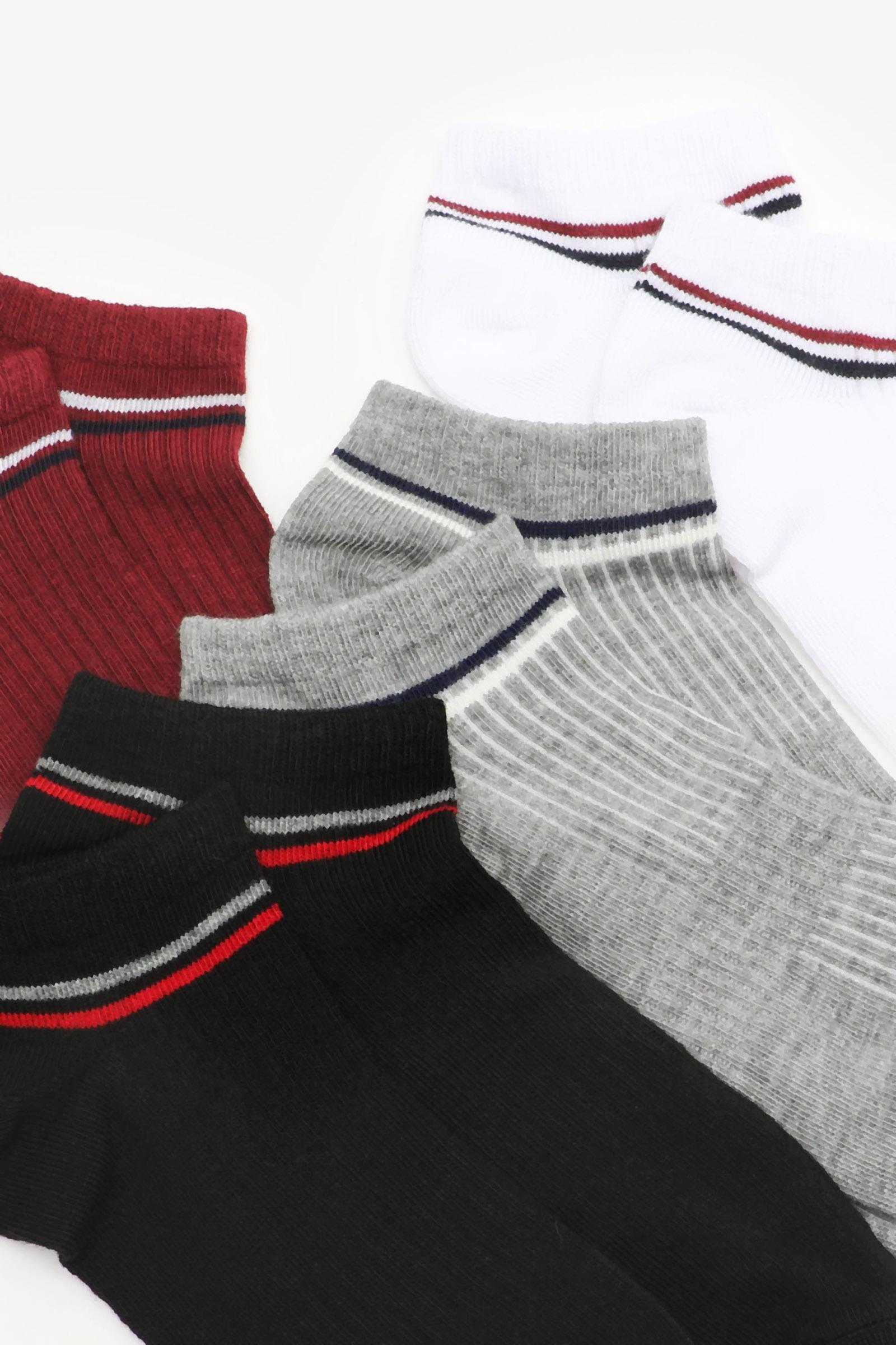 Pack of Ribbed Ankle Socks