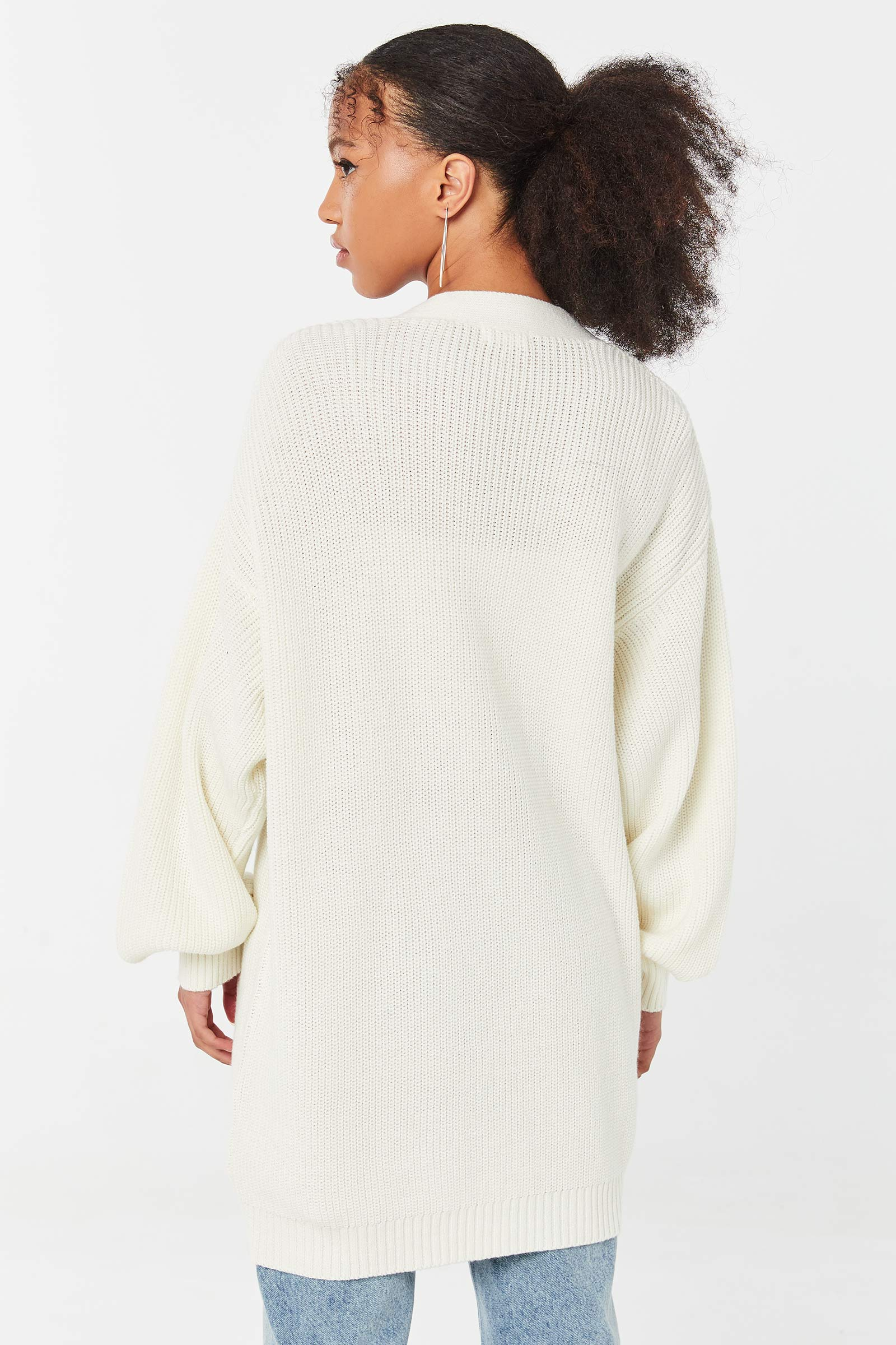 Cardigan ample ouvert