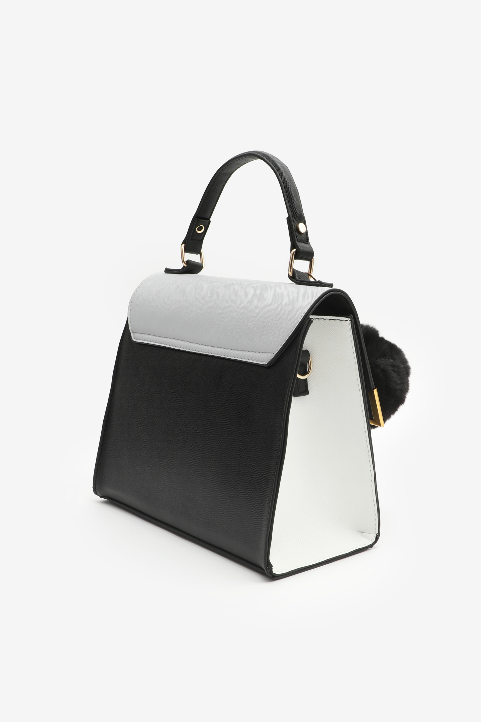 Small Tote Bag with Metal Corners