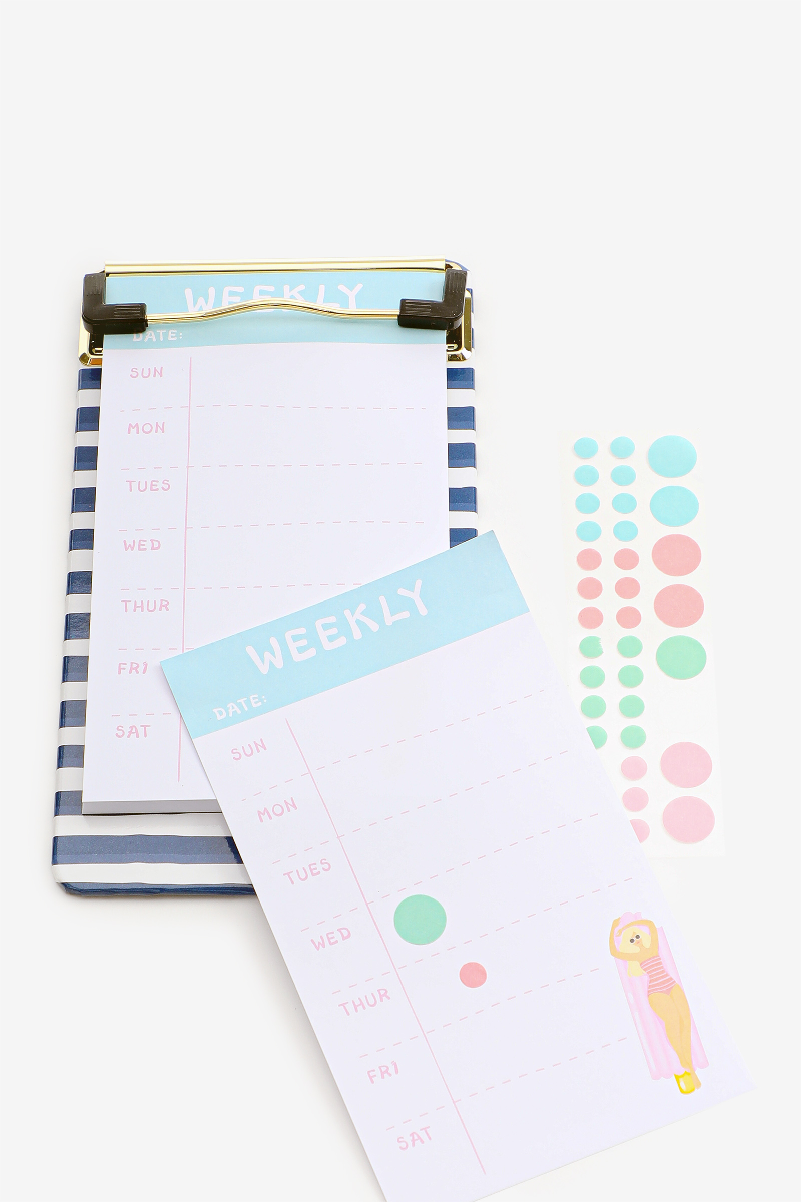 Clipboard with Notepad and Stickers