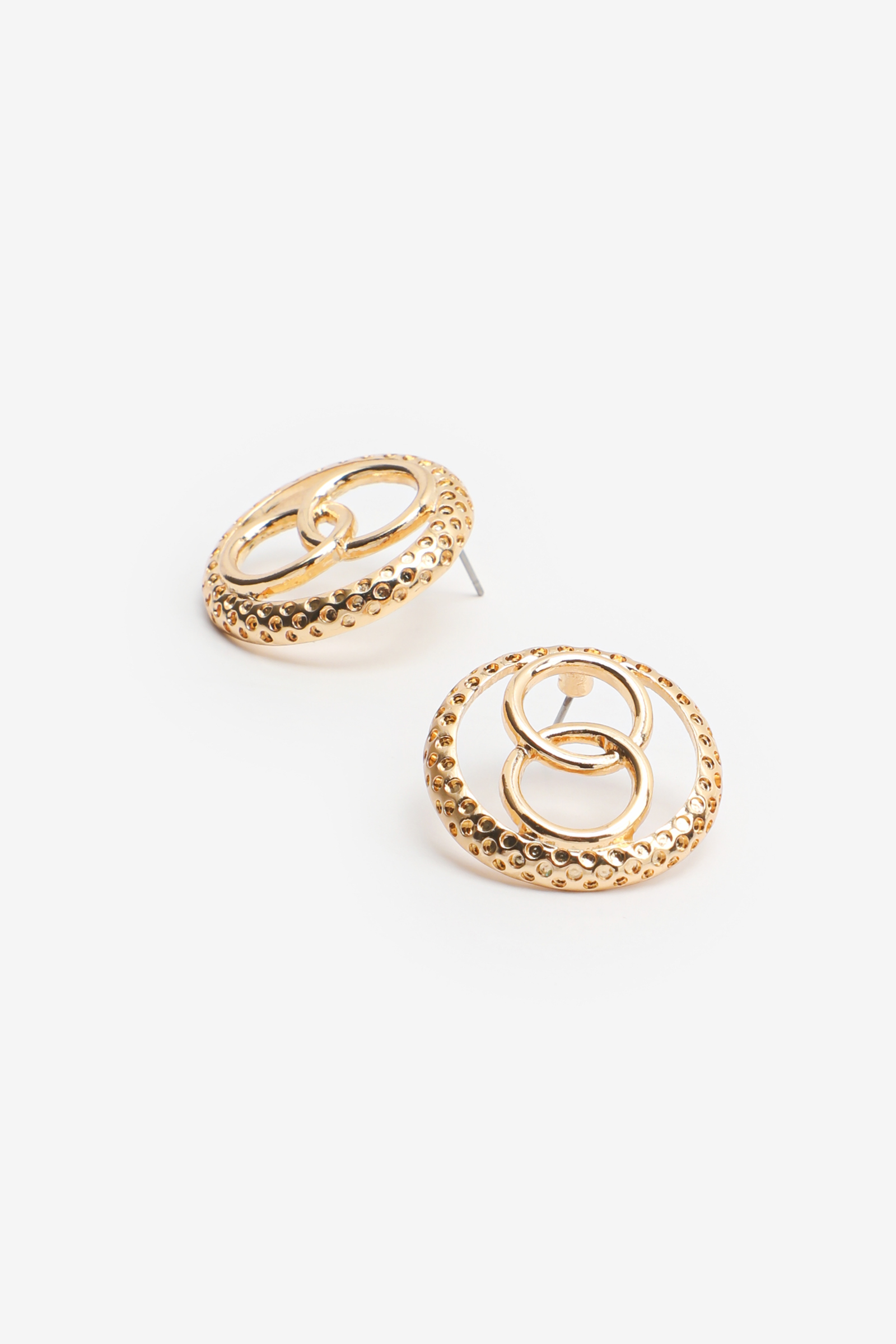 Interlocked Circle Earrings