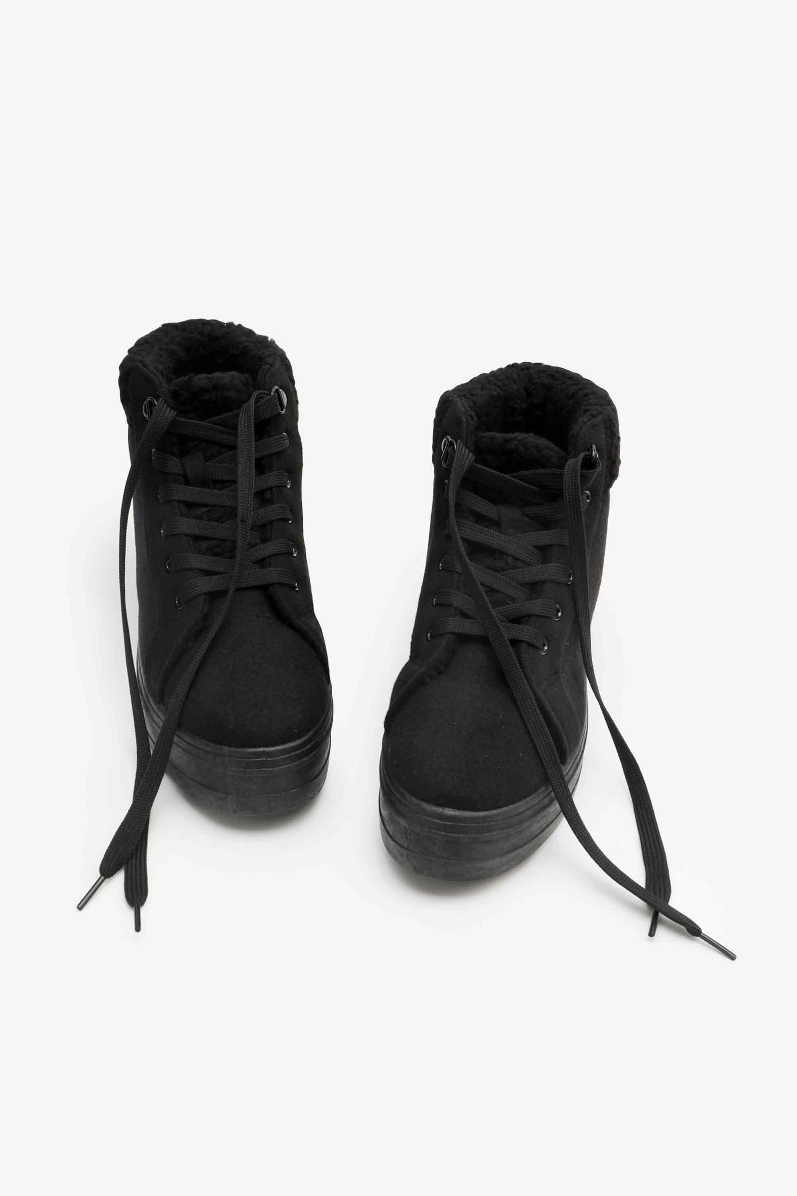 Faux Sherpa Lined Sneakers