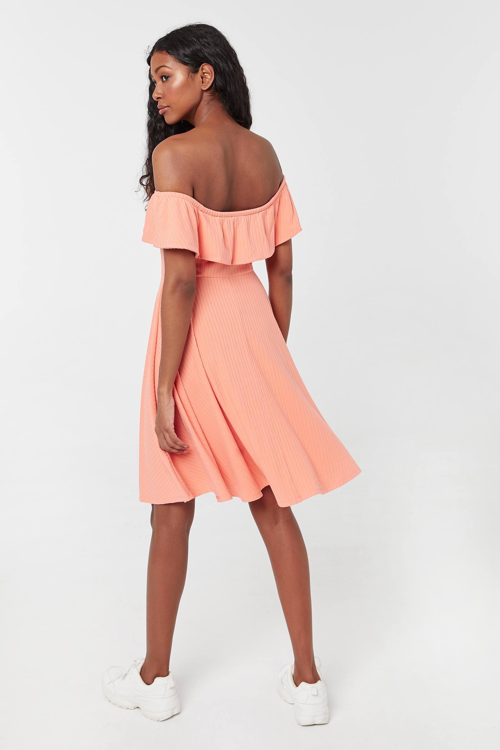 Striped Flounced Dress