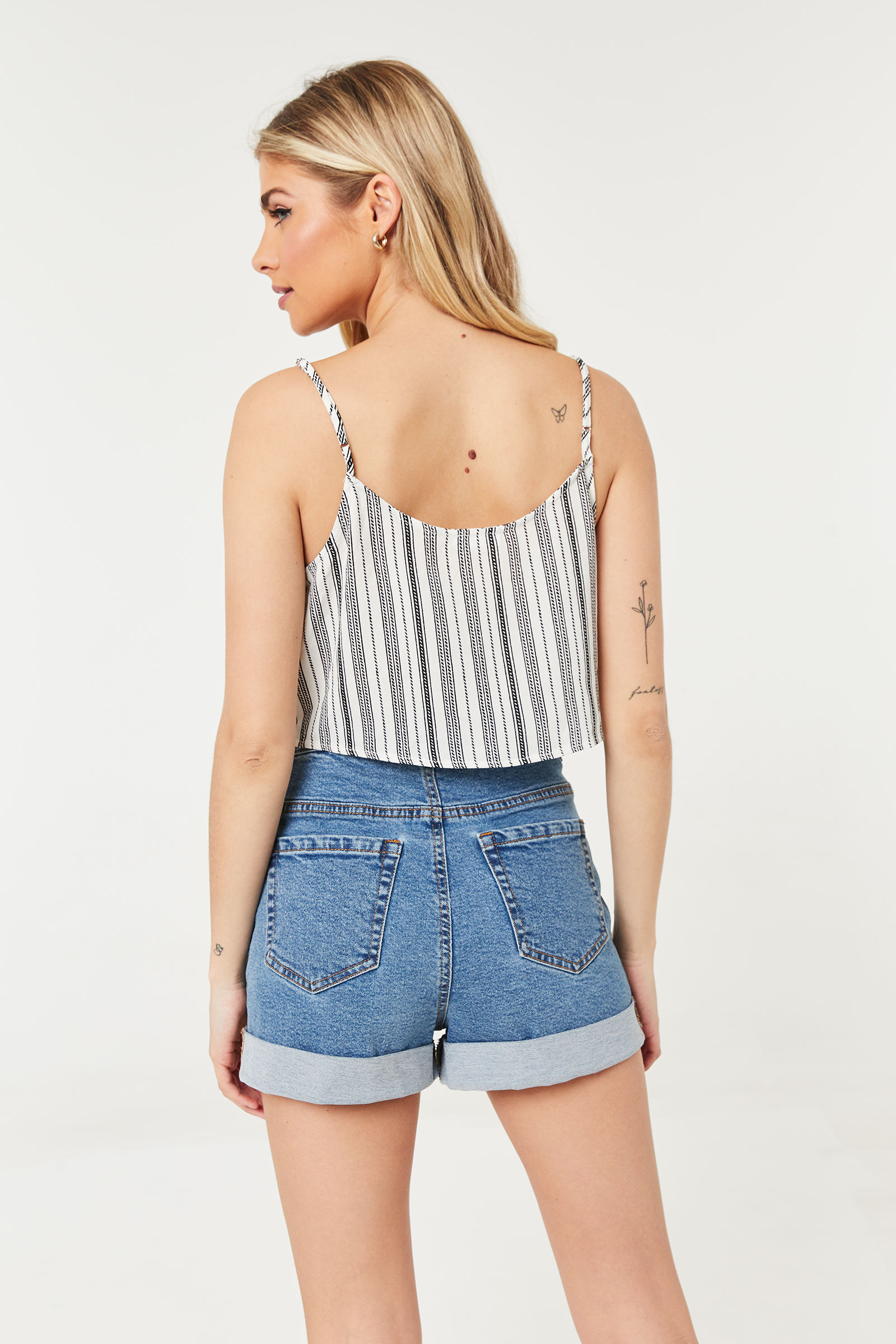 Striped Cropped Tank Top