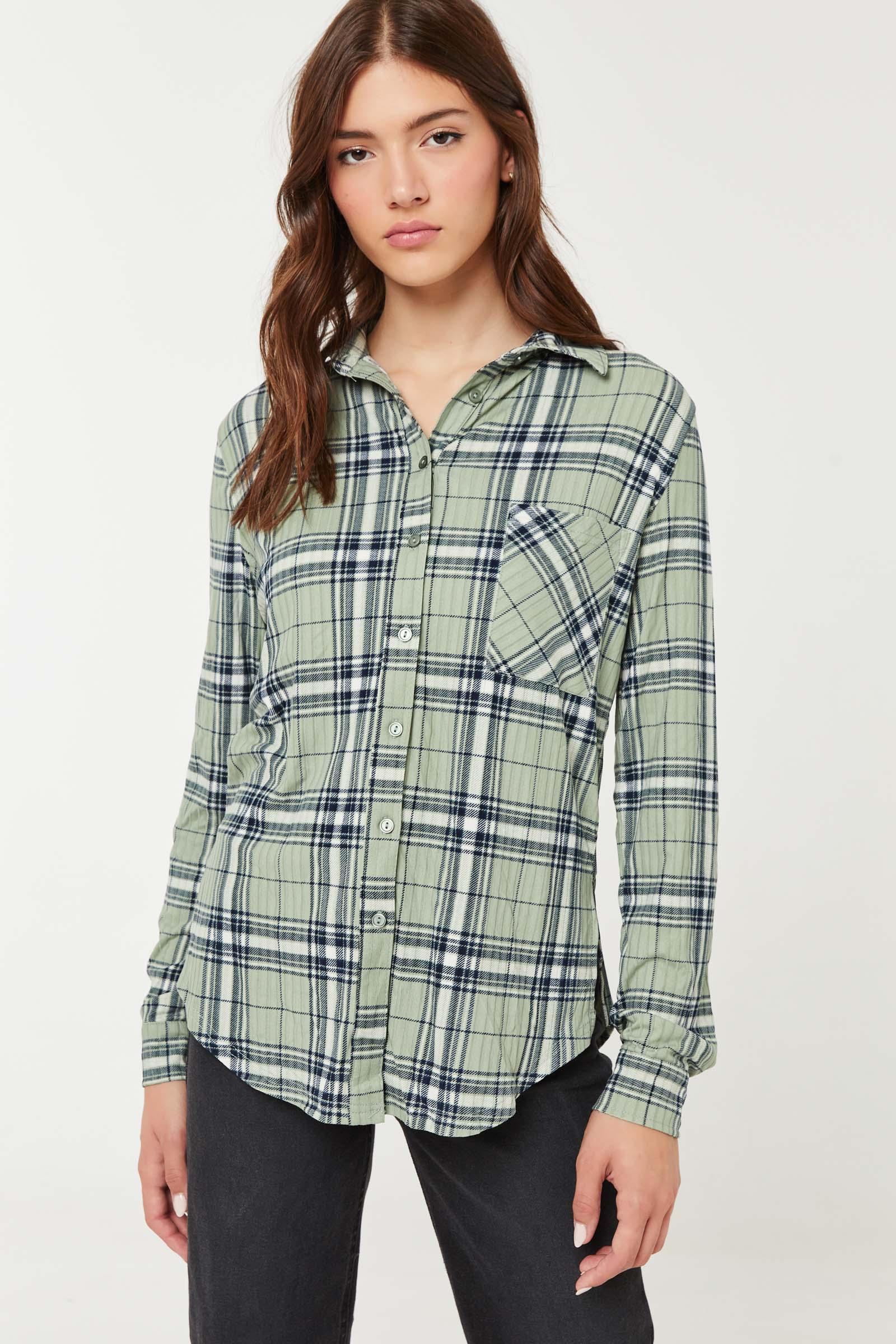 Super Soft Plaid Boyfriend Shirt