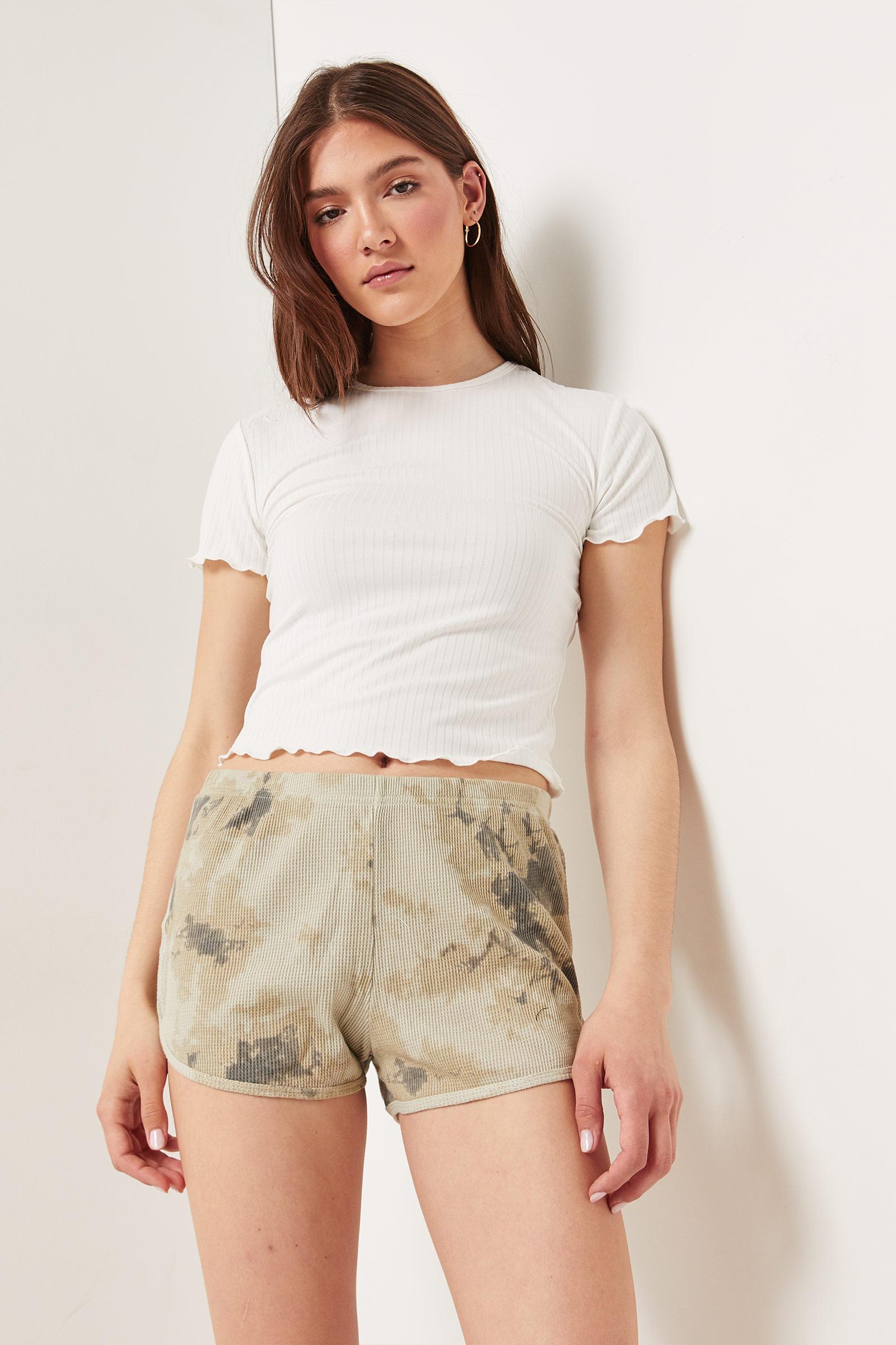 Waffle Tie-Dye Shorts