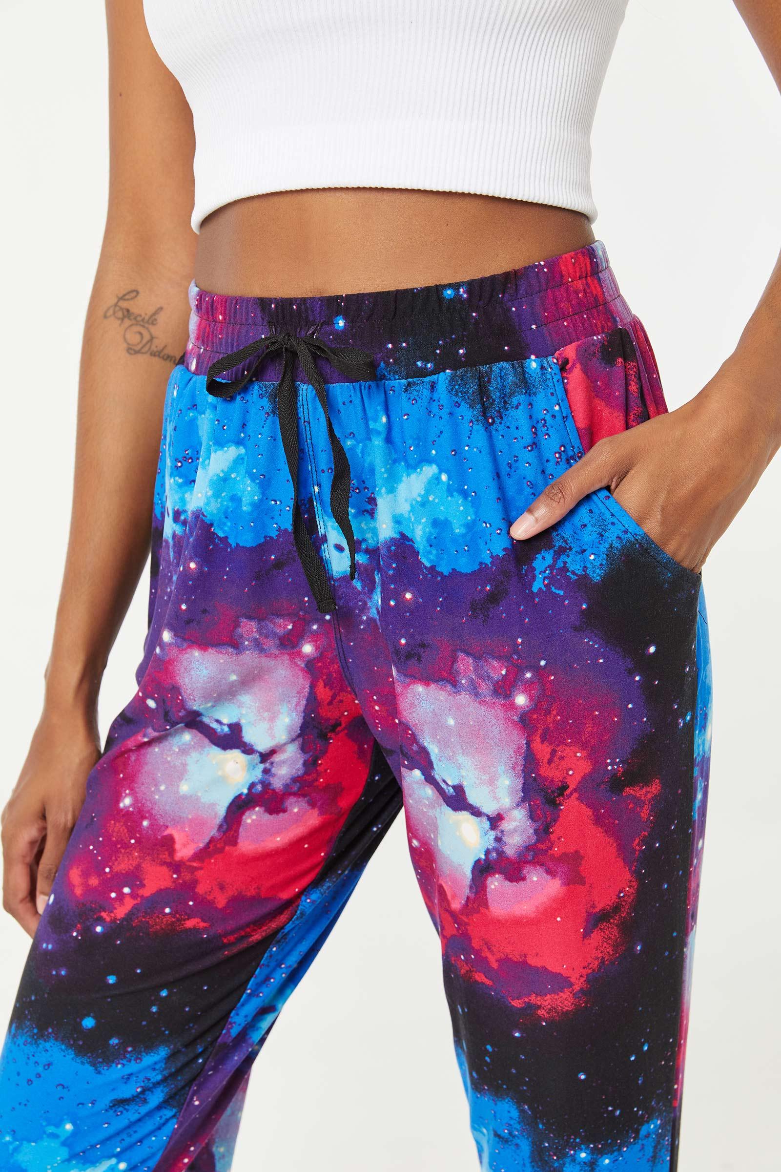 Jogging très doux à poches latérales galaxie