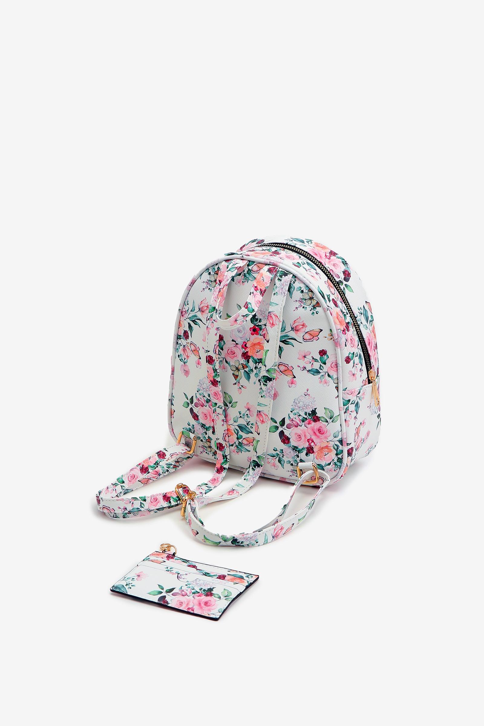 Petit sac à dos fleuri