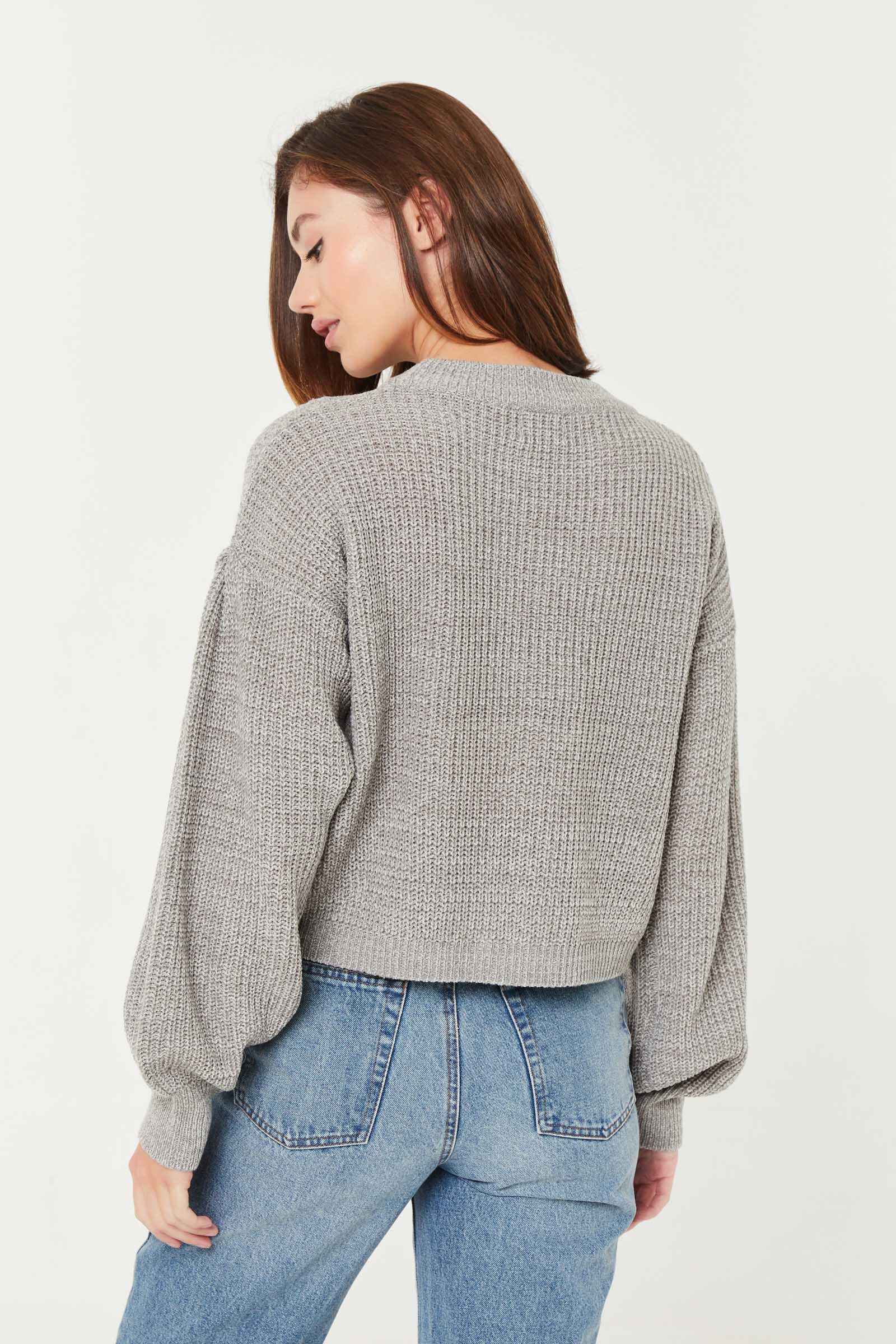 Bubble-Sleeved Sweater