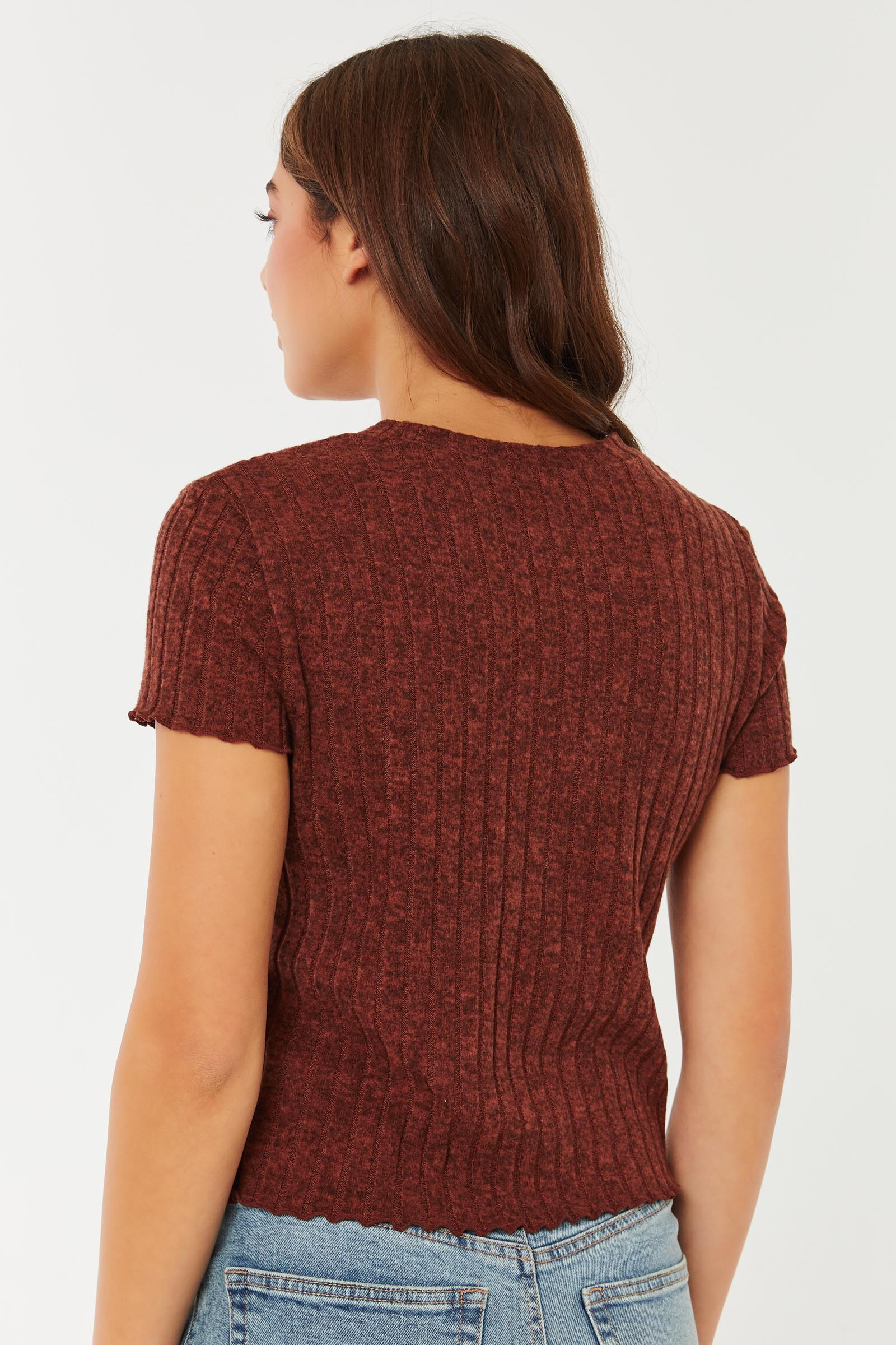 Brushed Wide-Ribbed Sweater