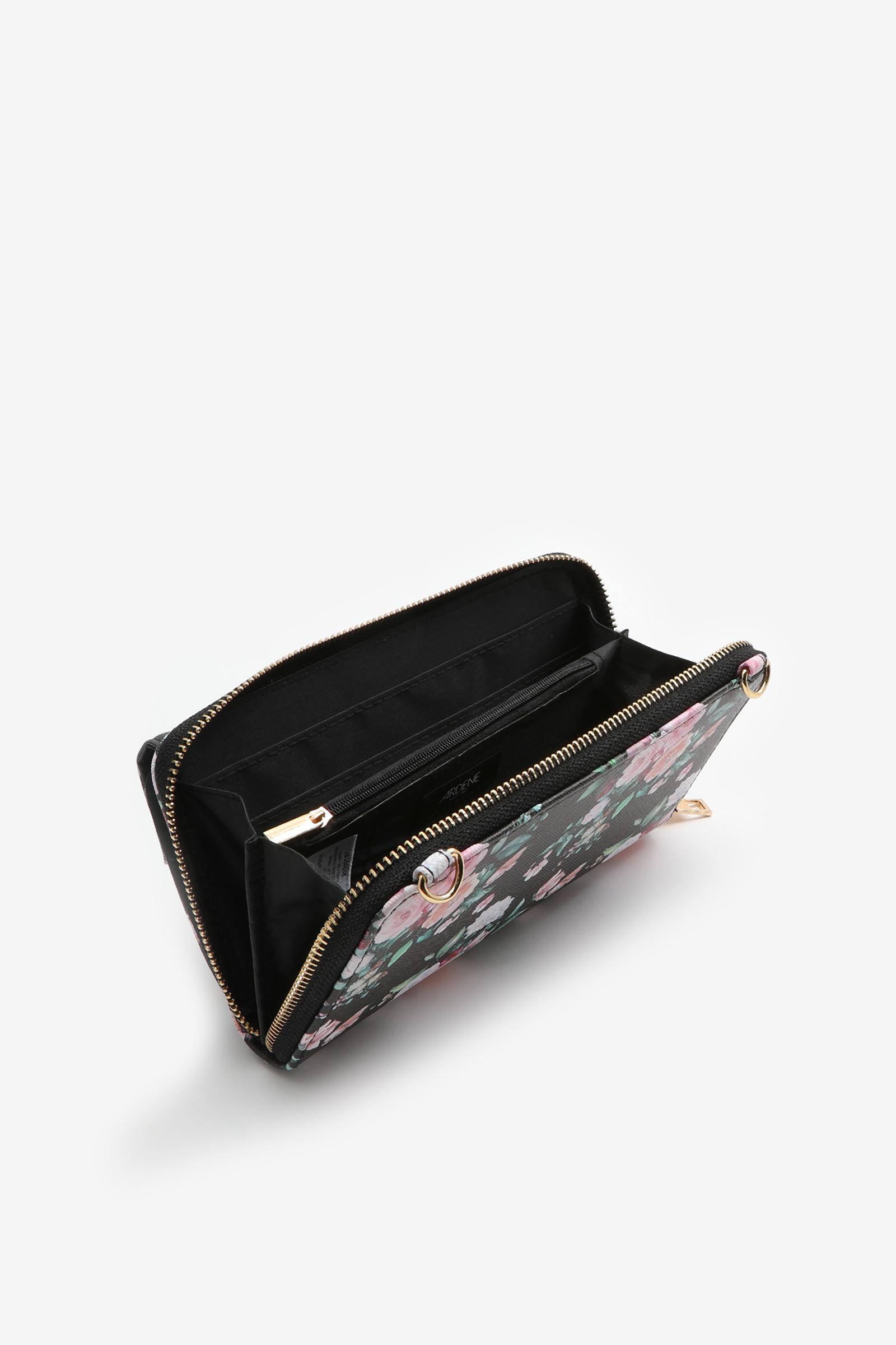 Turn-Lock Floral Clutch Wallet