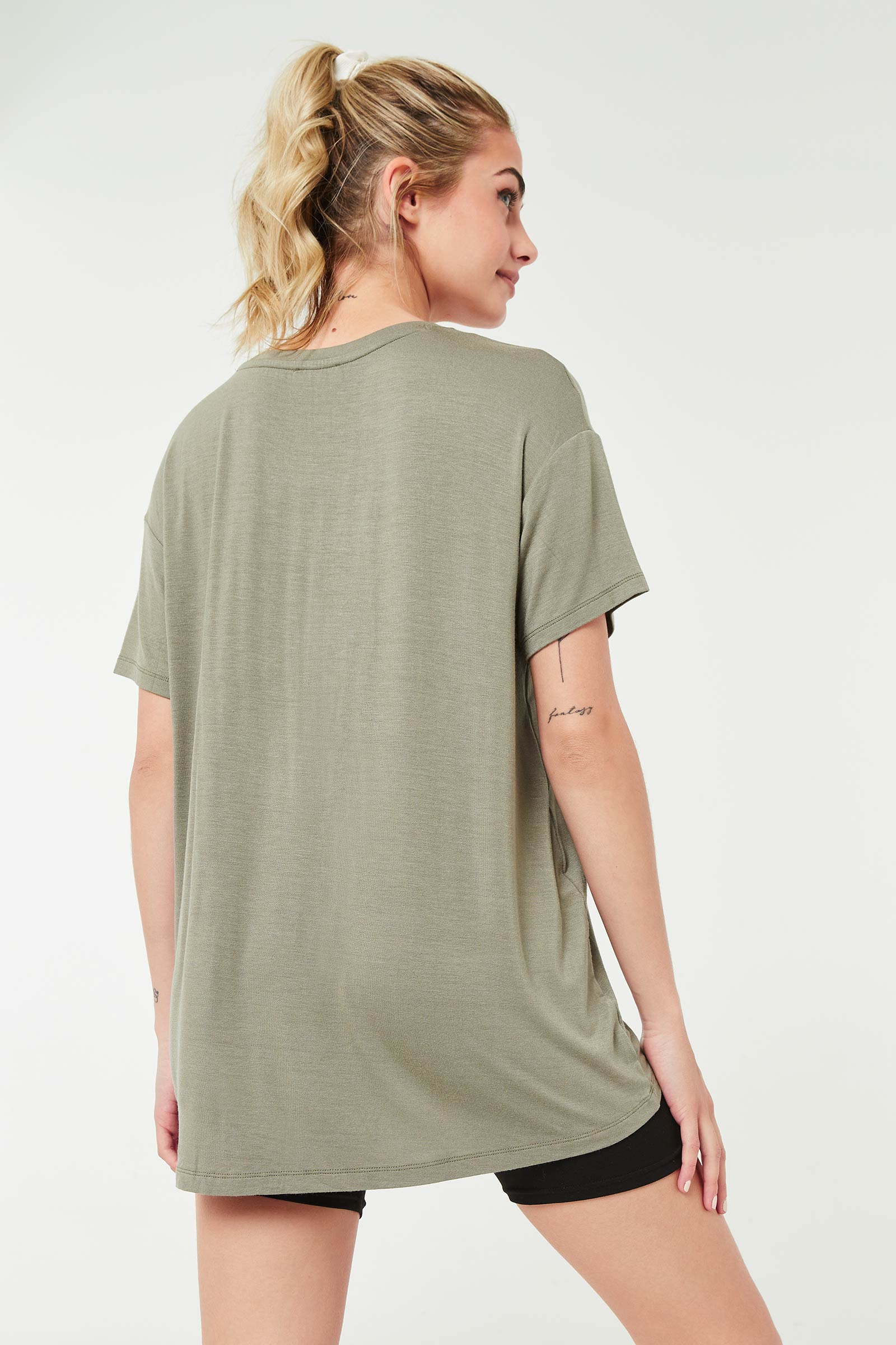 T-shirt ample à col rond