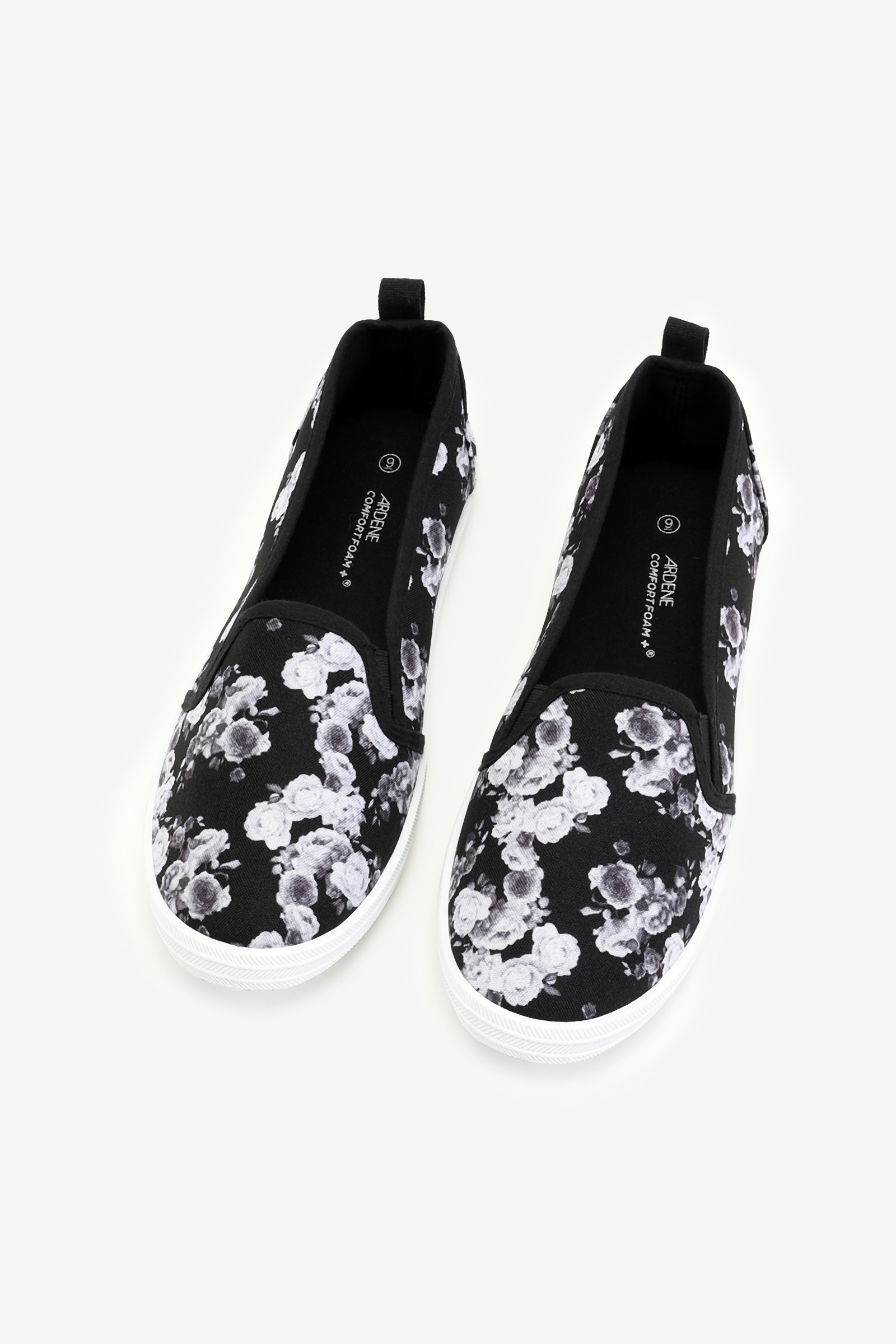 Floral Laceless Sneakers