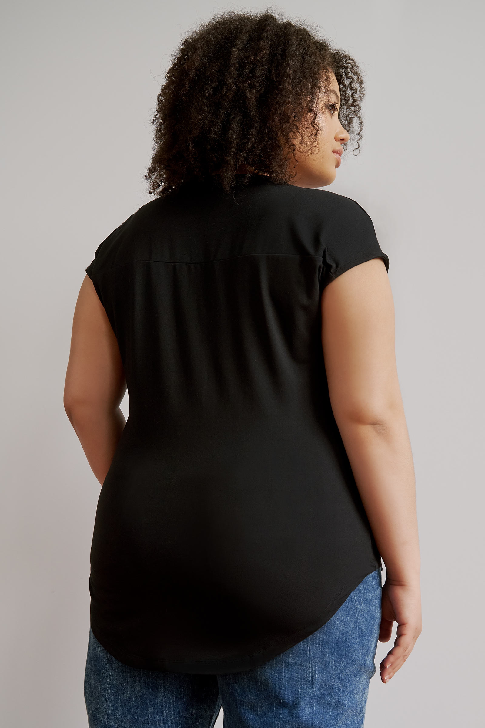 Curve Dolman Top with Zipper