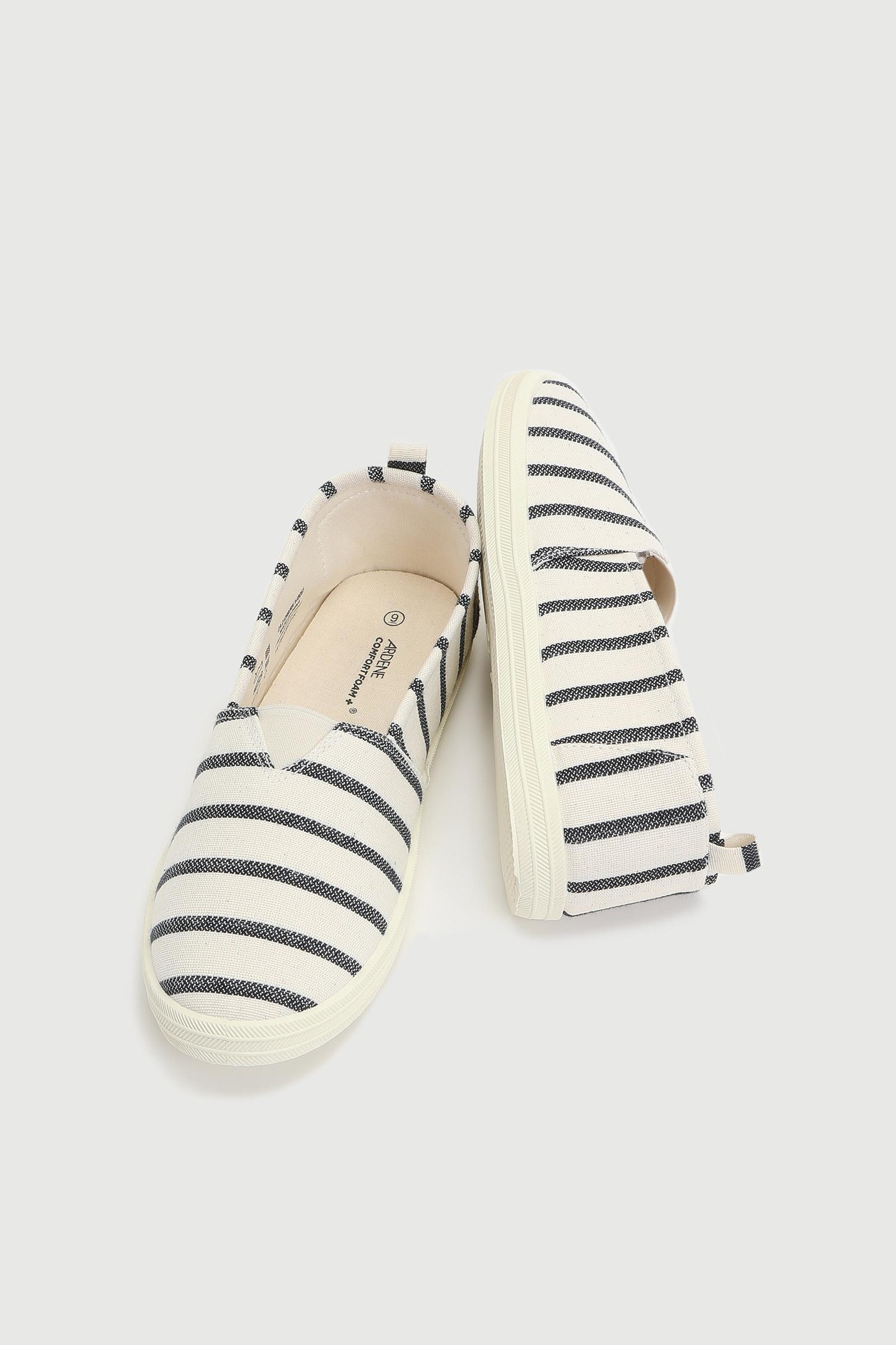 Basic Striped Slip-On Sneakers