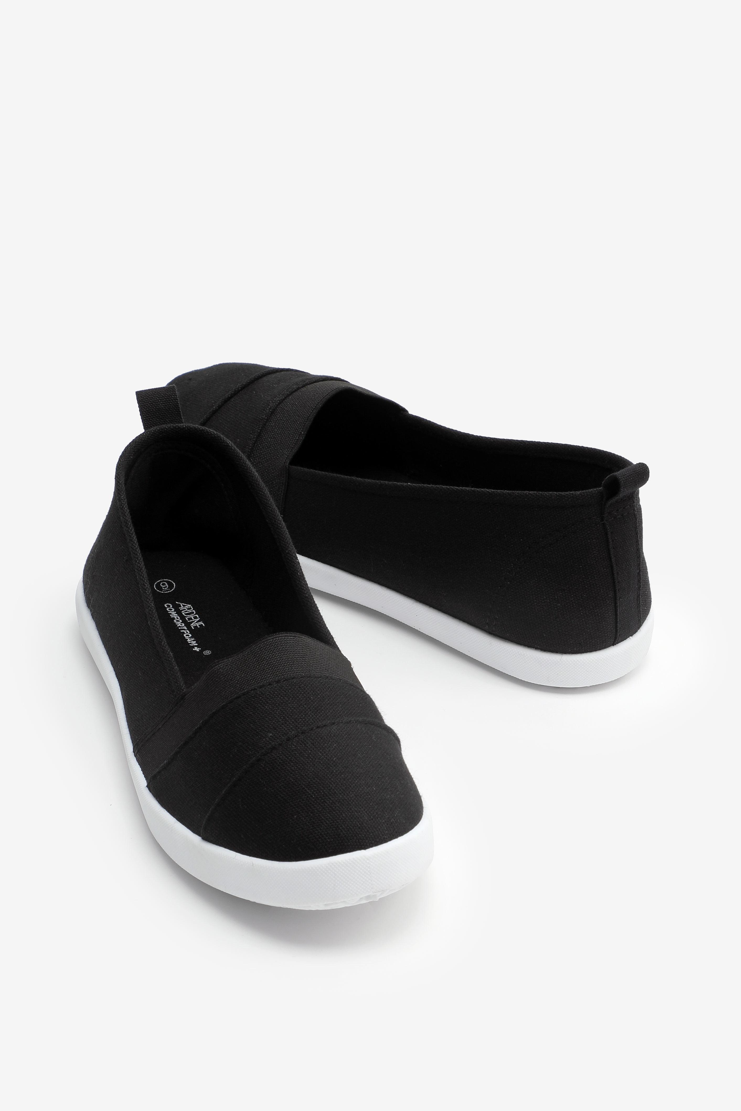Pleated Canvas Sneakers