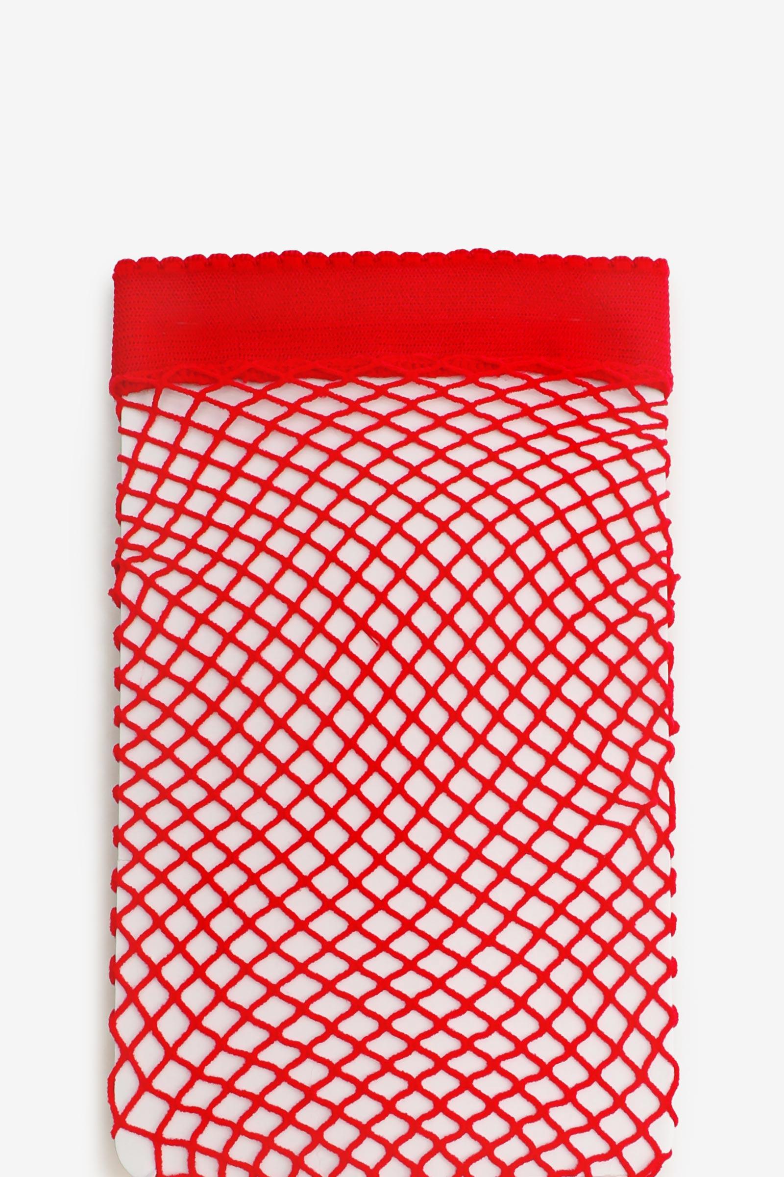 Collants en résille rouge