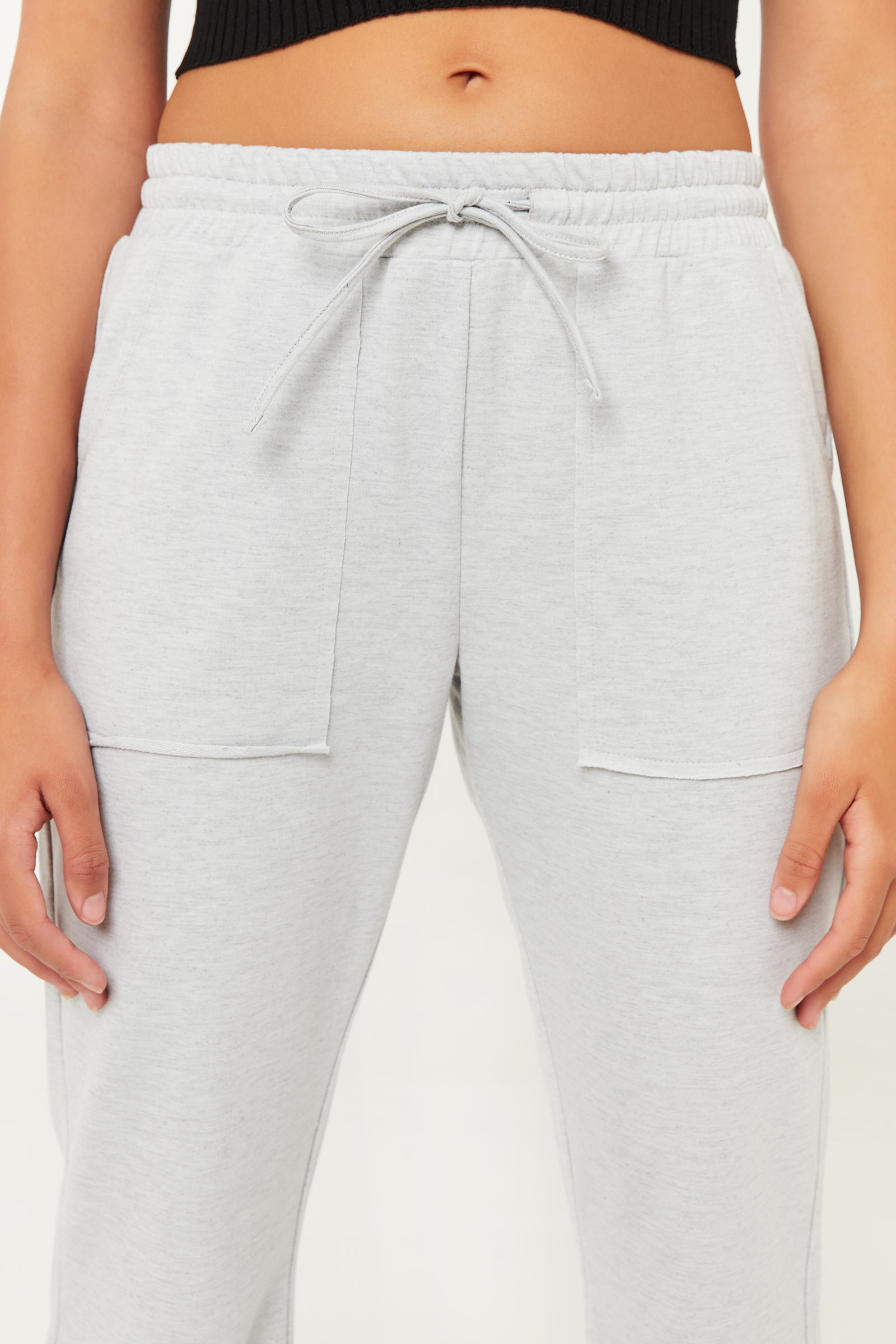 Flare Joggers with Patch Pockets