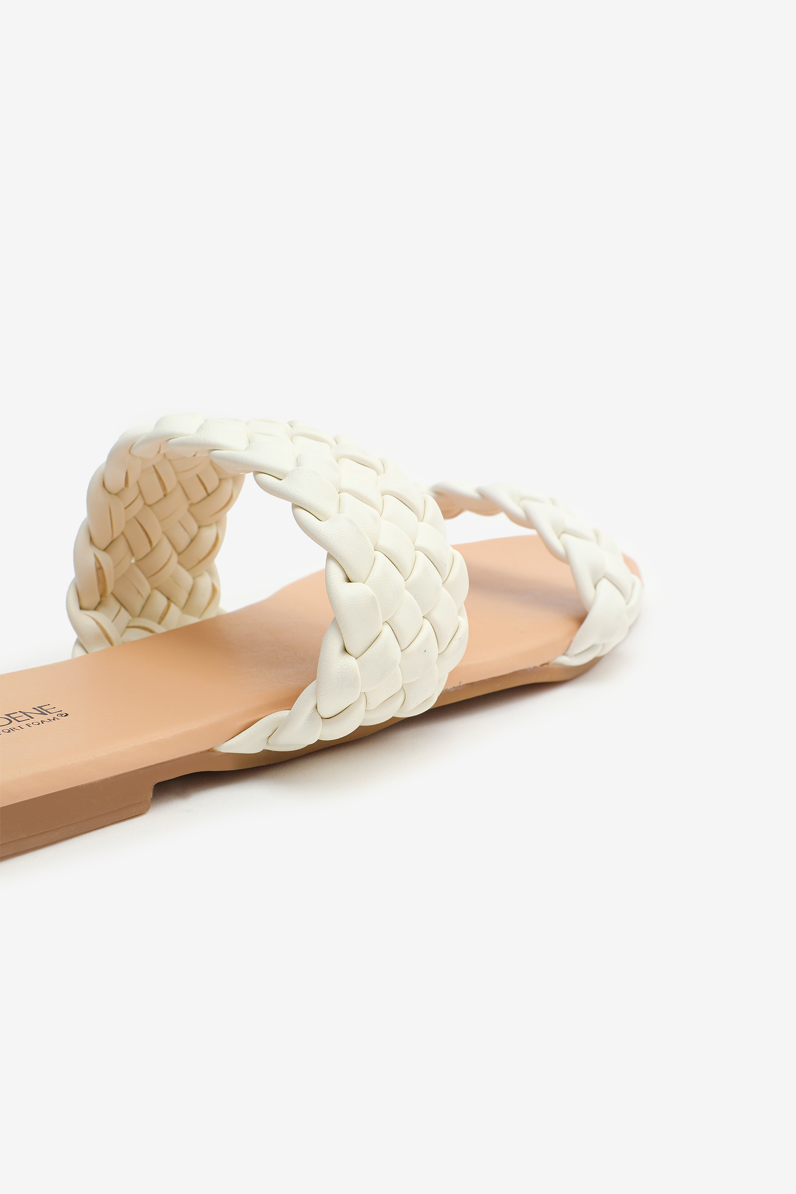 Sandales matelassées en faux cuir