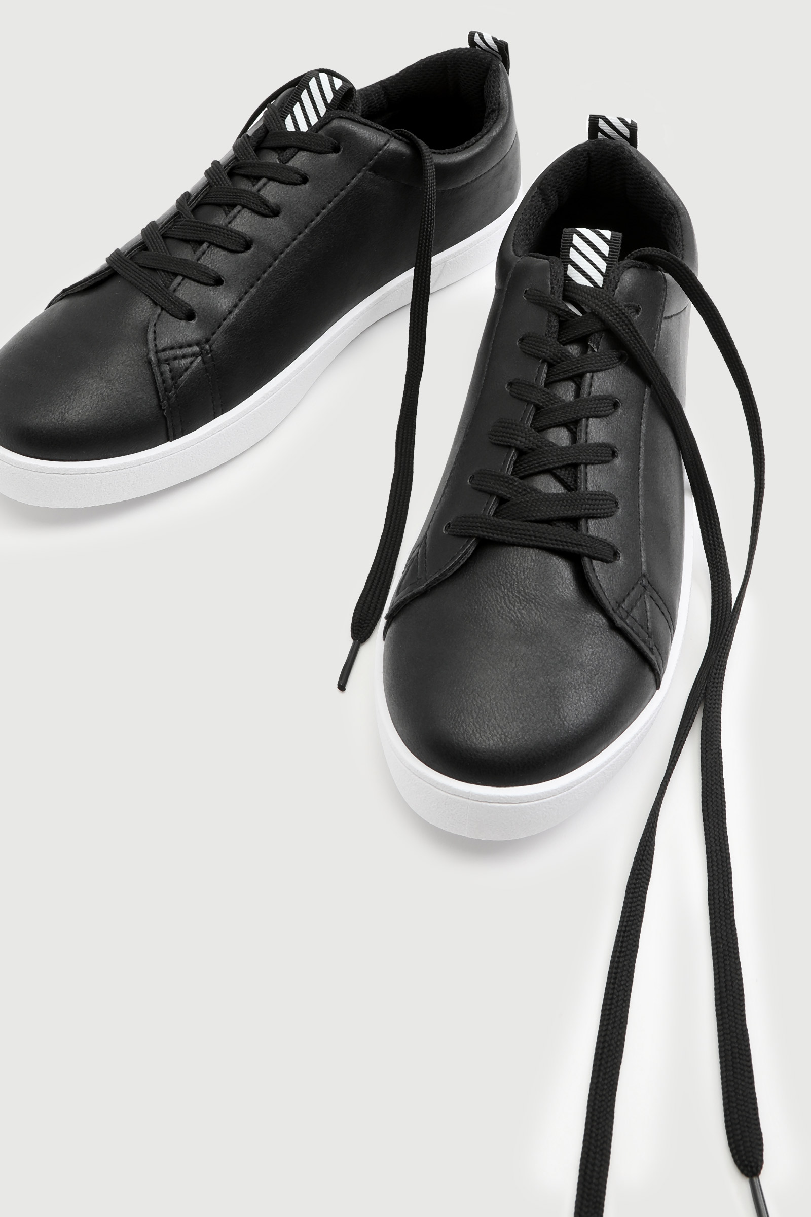 Sneakers with Striped Tab