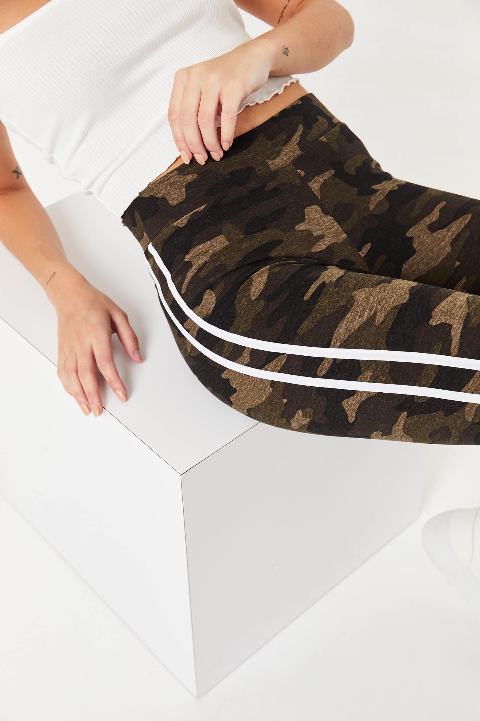 Side Stripe Camo Leggings