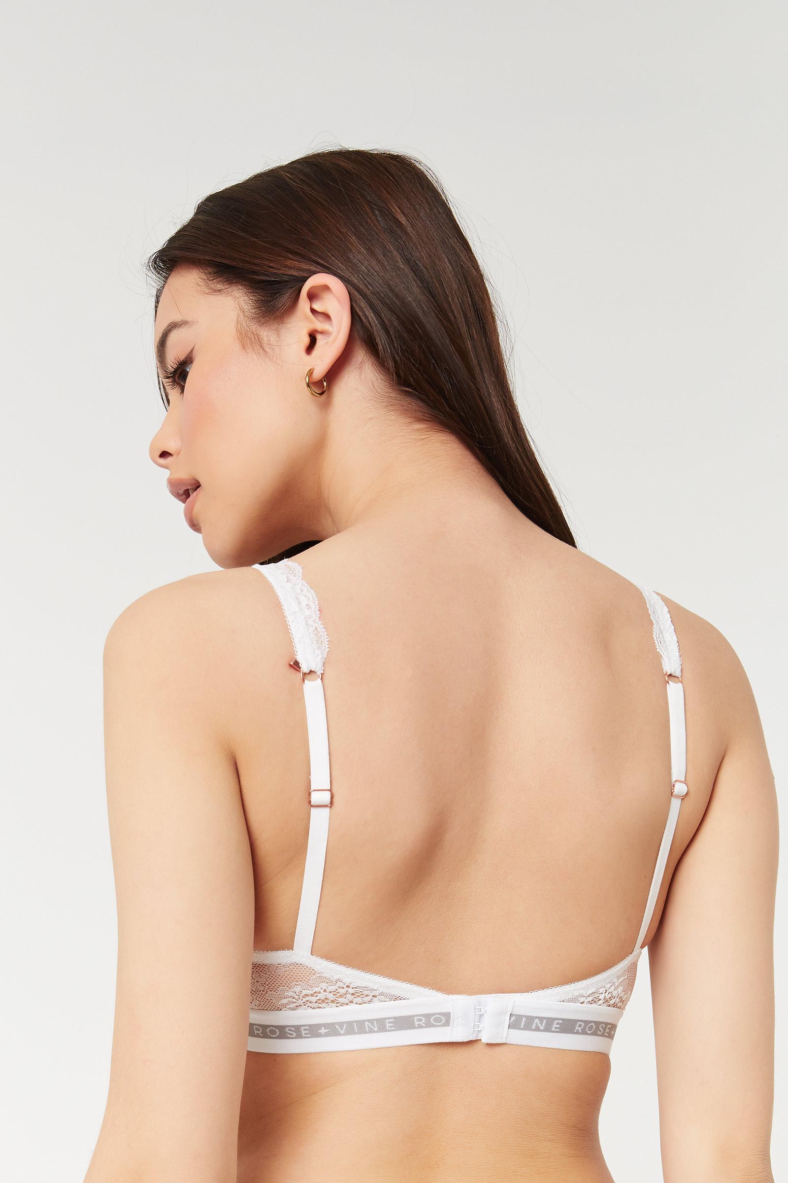 Scalloped Lace Triangle Bralette