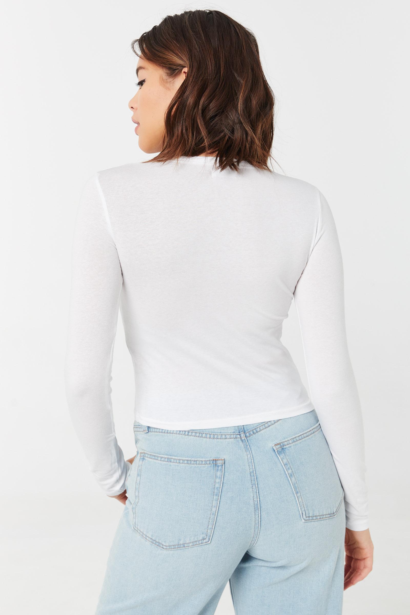 T-shirt court à manches longues Basic