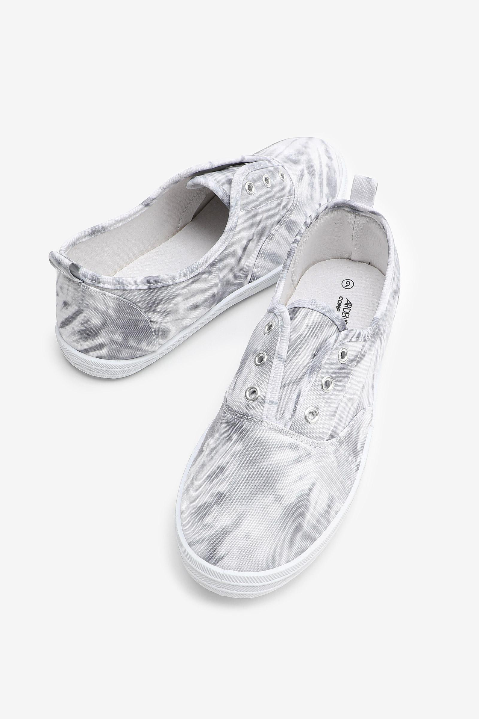 Tie-Dye Eyeleted Slip-On Sneakers