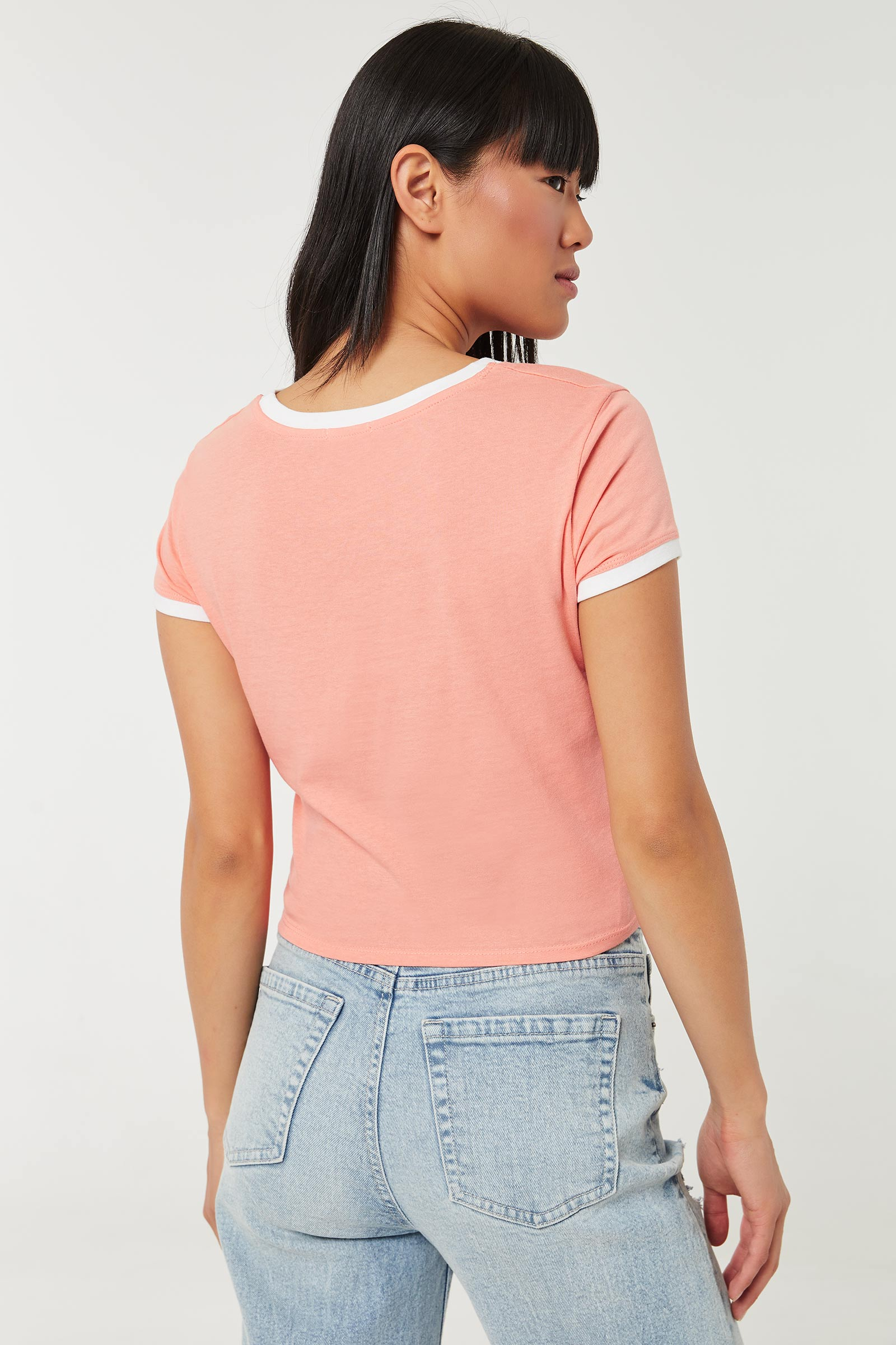 Knotted Ringer Tee