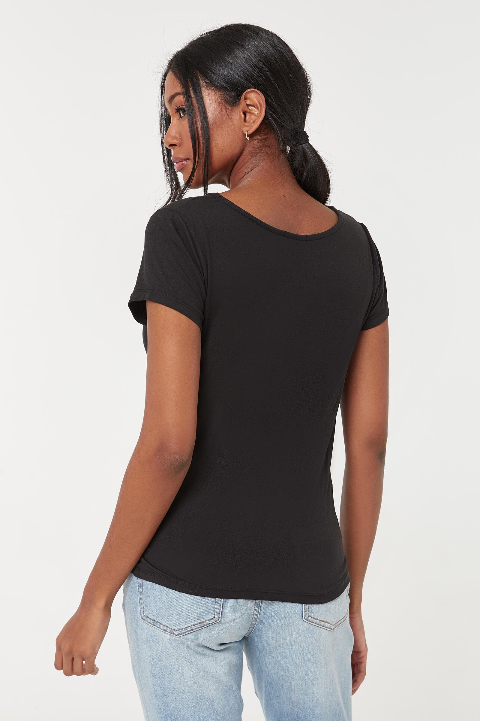 T-shirt torsadé à tournesols