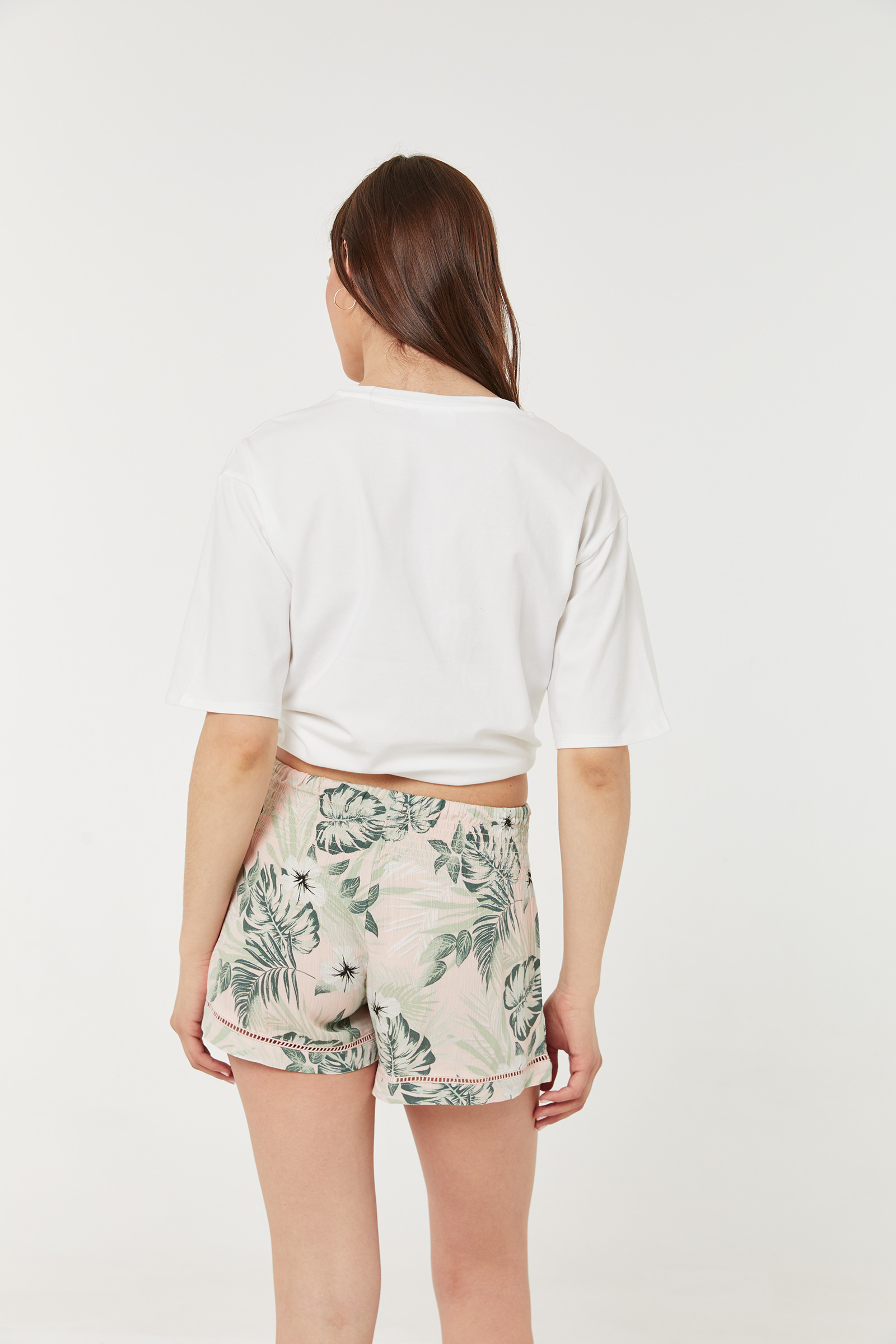 Leafy Ruched Shorts