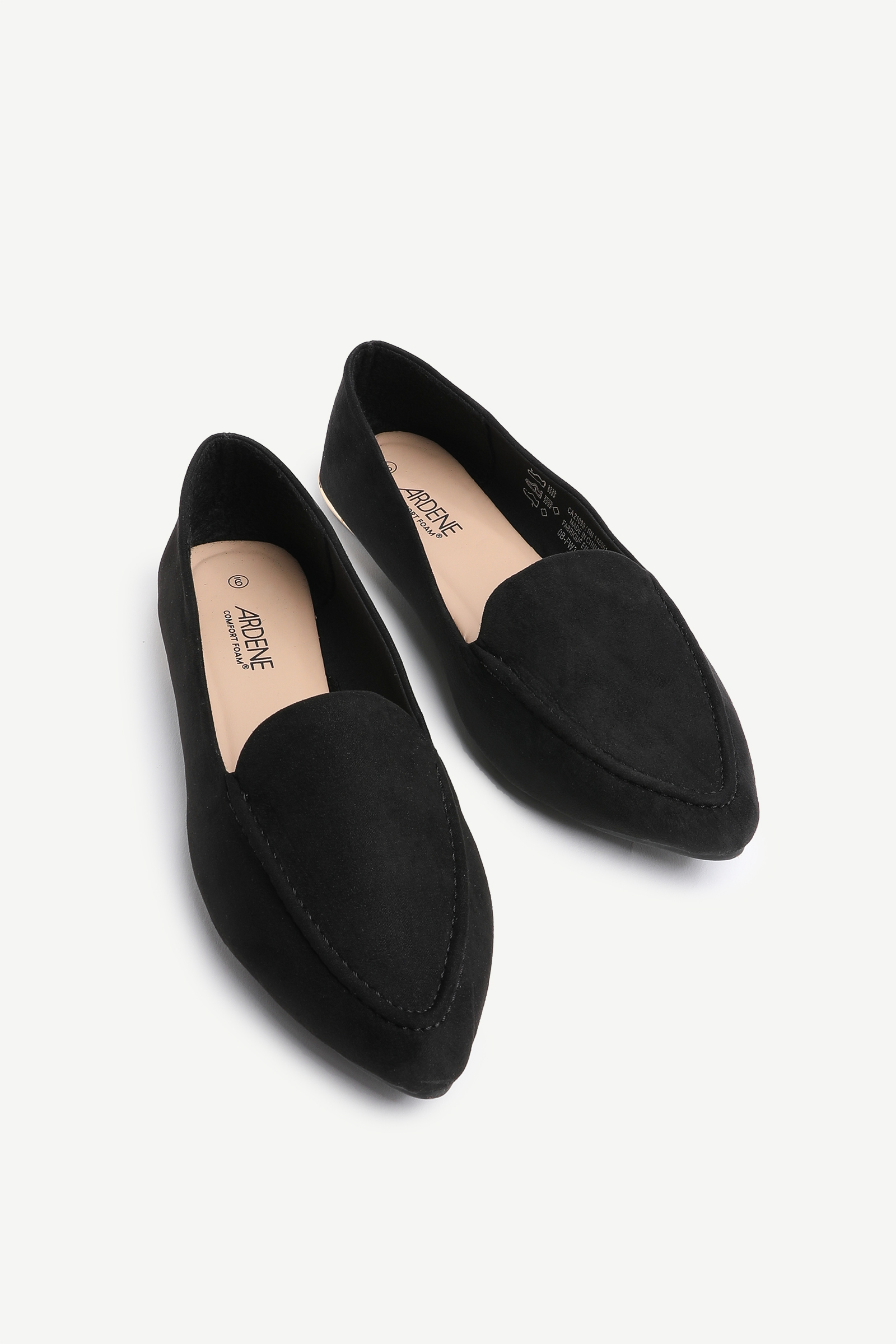 Pointy Toe Microsuede Loafers