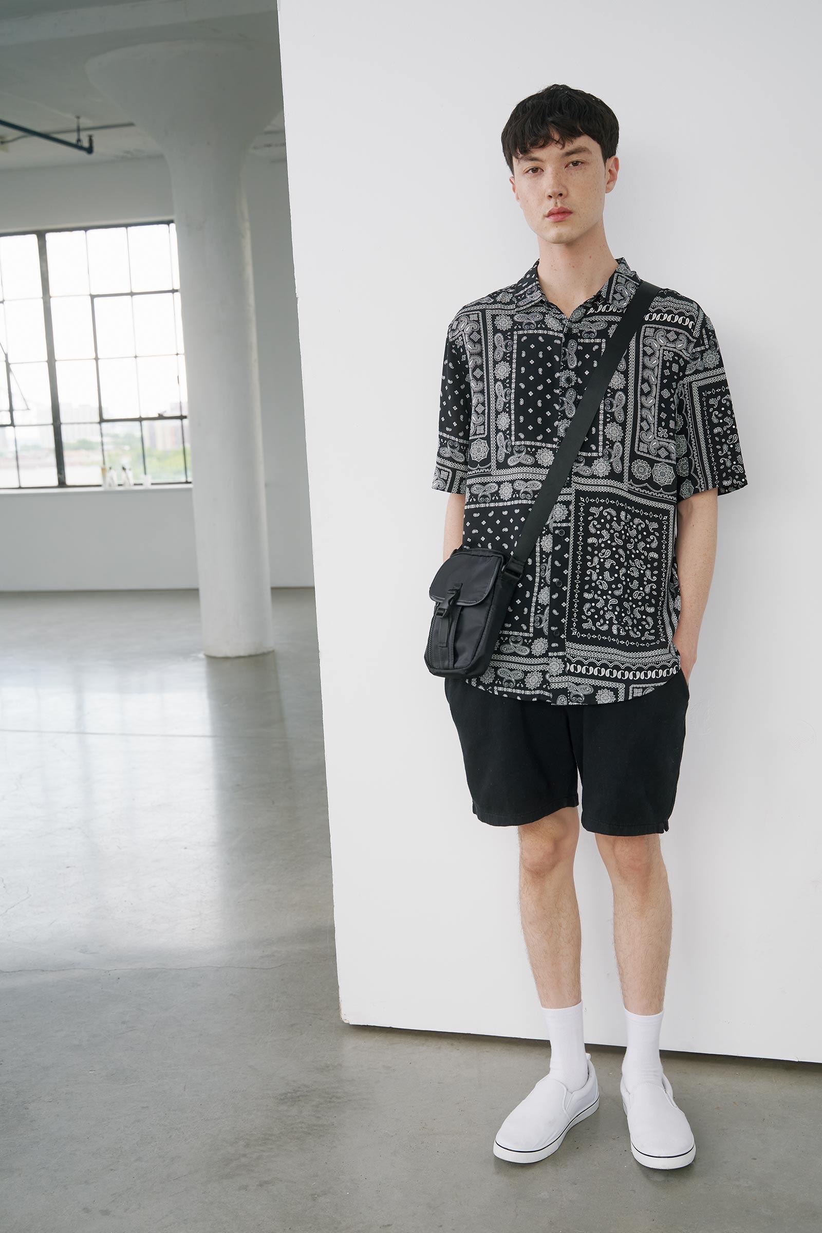 Bandana Short Sleeve Shirt for Men