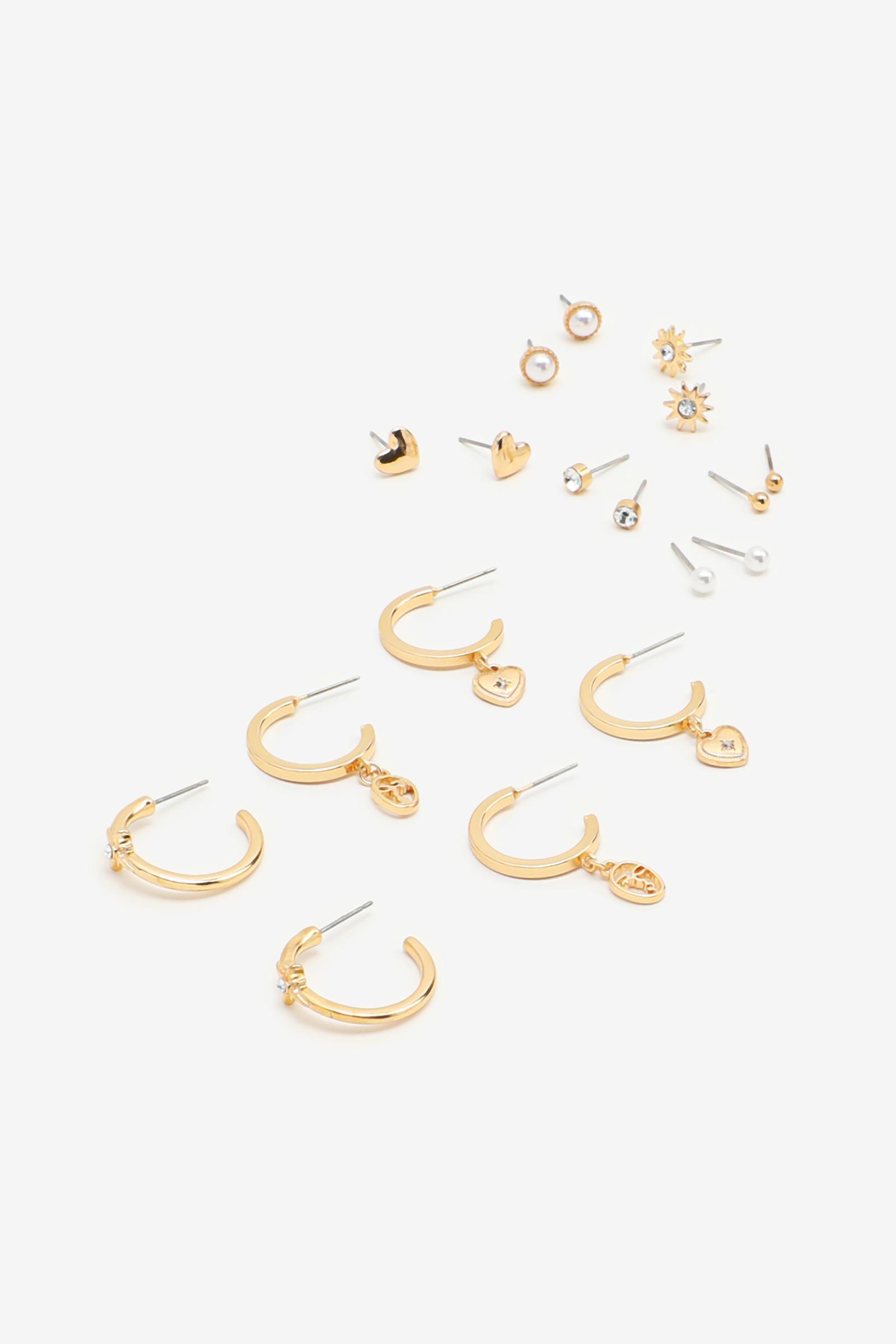 Pack of Stud & Hoop Earrings