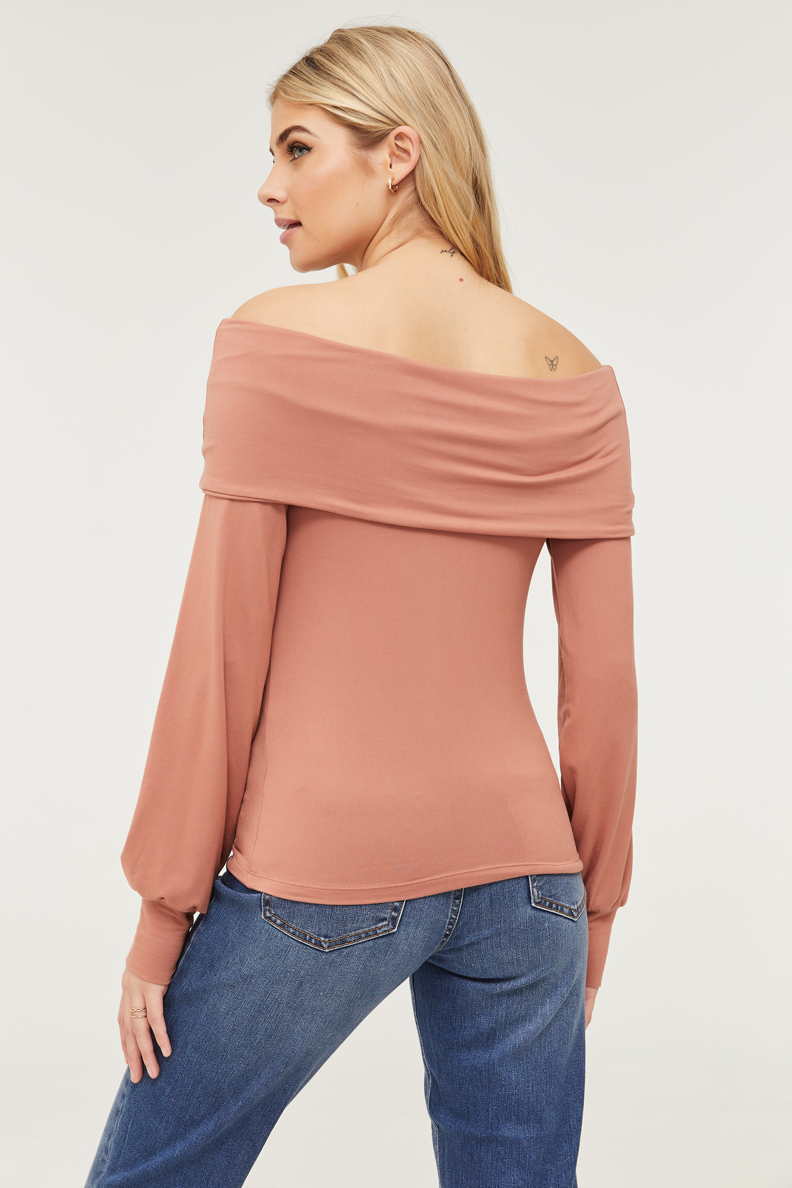 Off Shoulder Puff Sleeve Top
