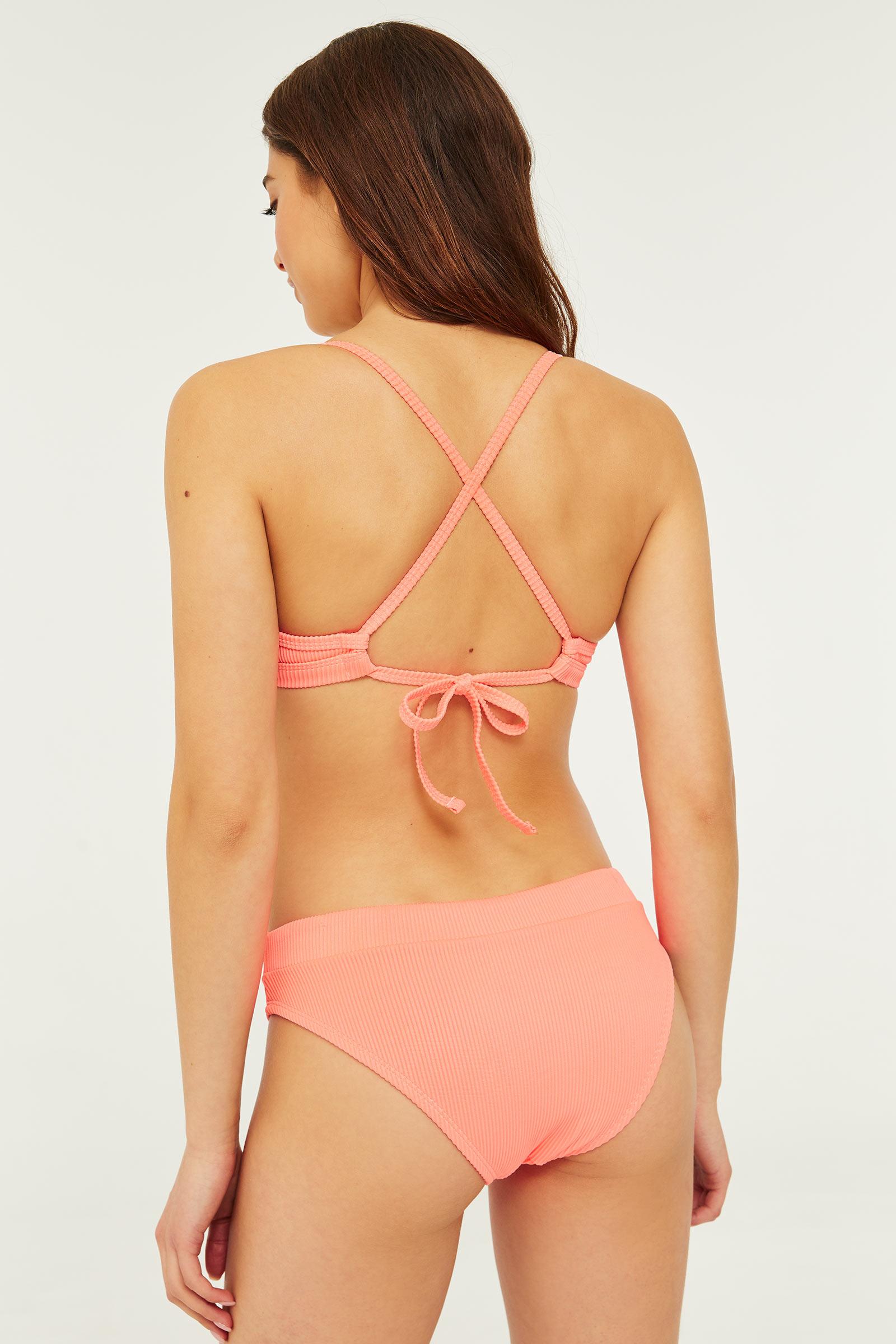 Ribbed Cheeky Bikini Bottom