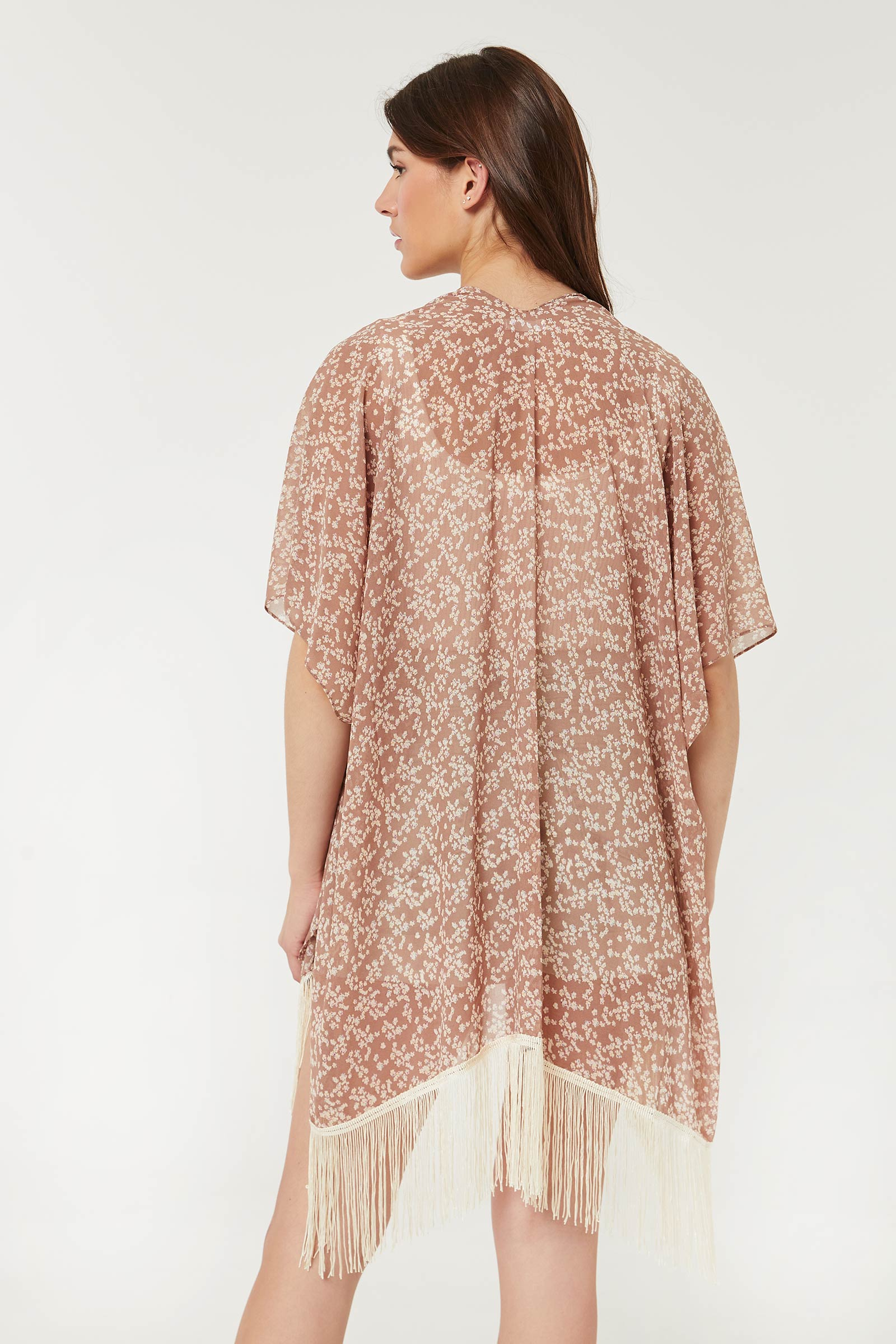 Floral Open Poncho