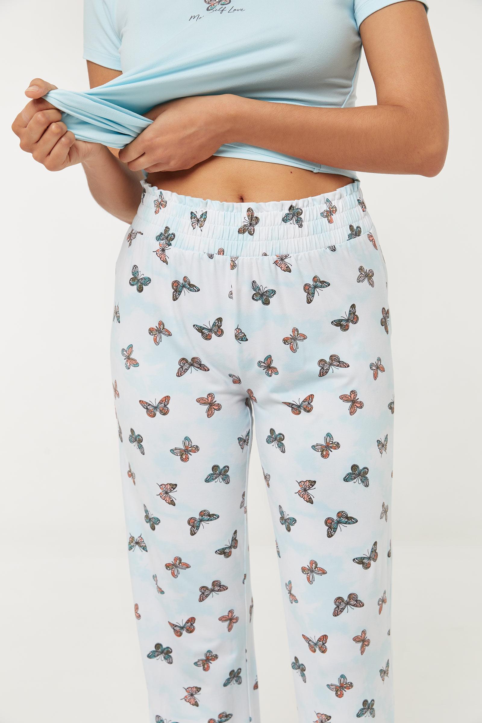 Pantalon de pyjama à papillon