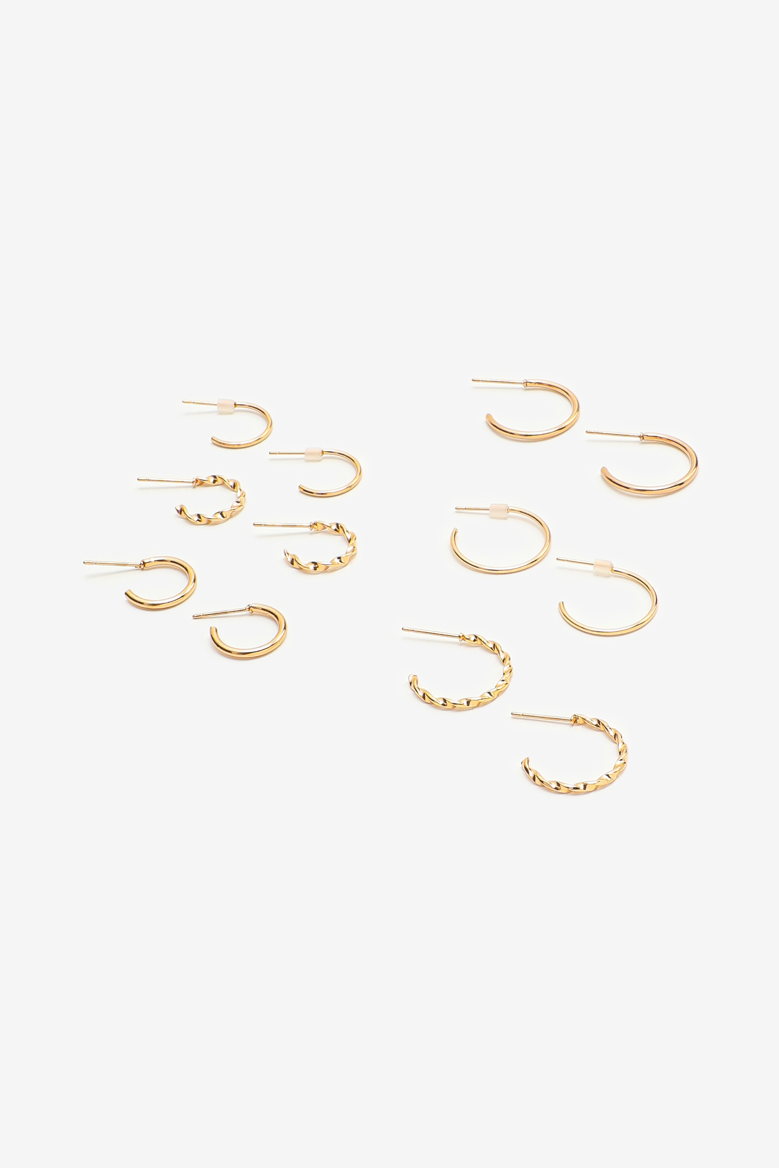 Paquet d'anneaux texturés dorés