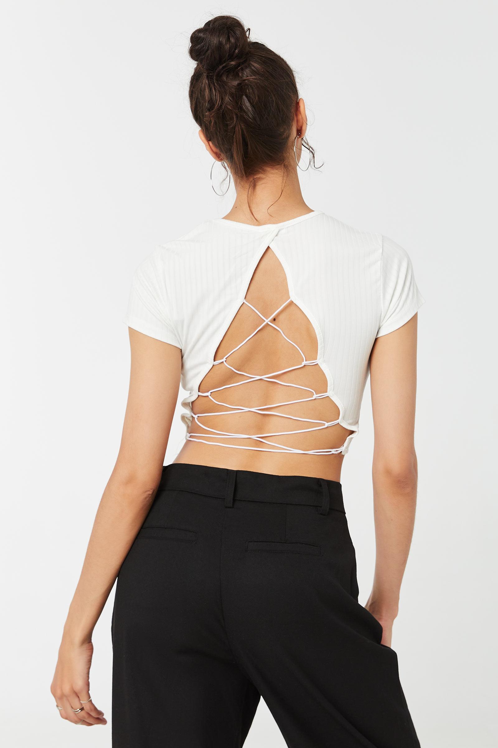 T-shirt à dos lacé élastique